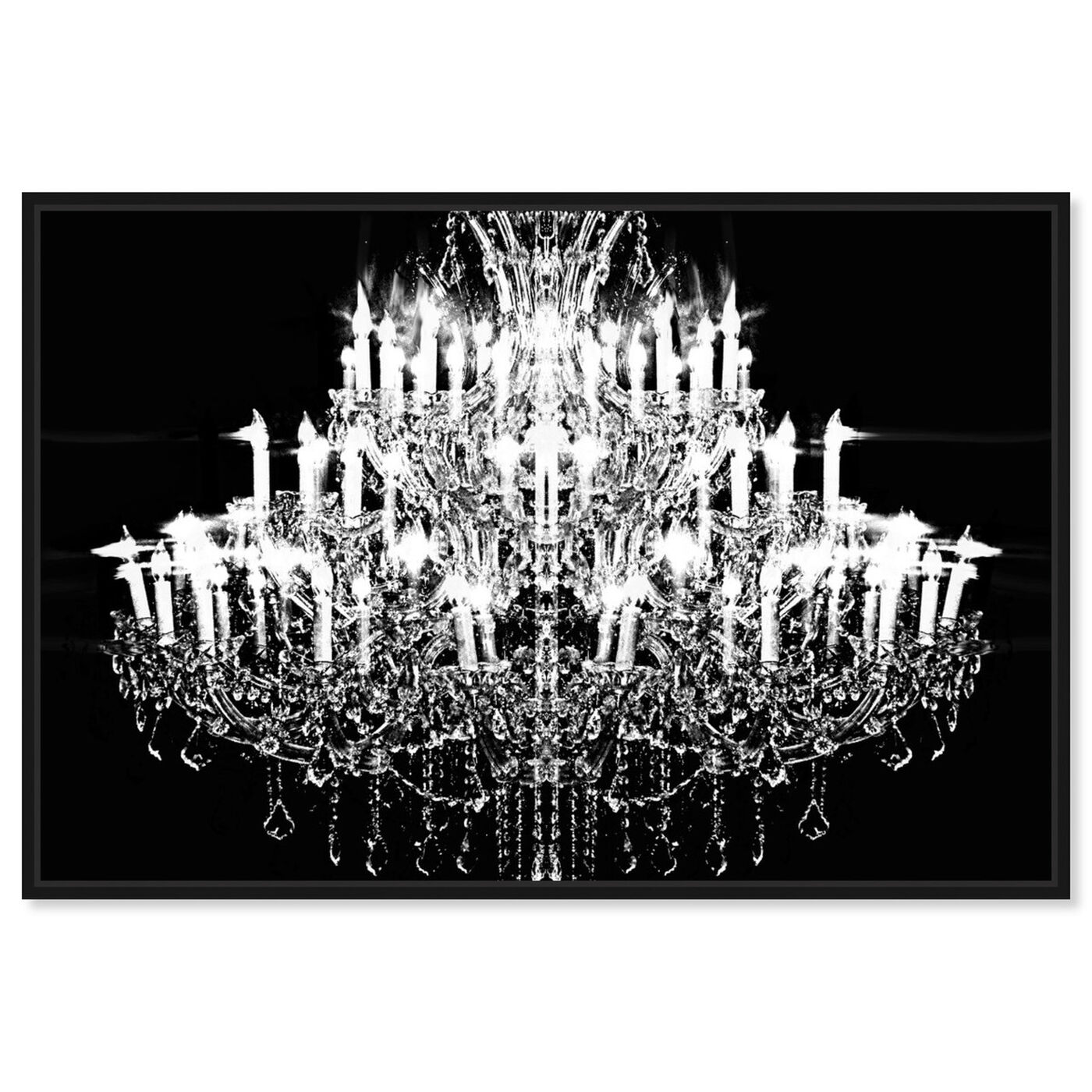 Front view of Carmina Burana featuring fashion and glam and chandeliers art.