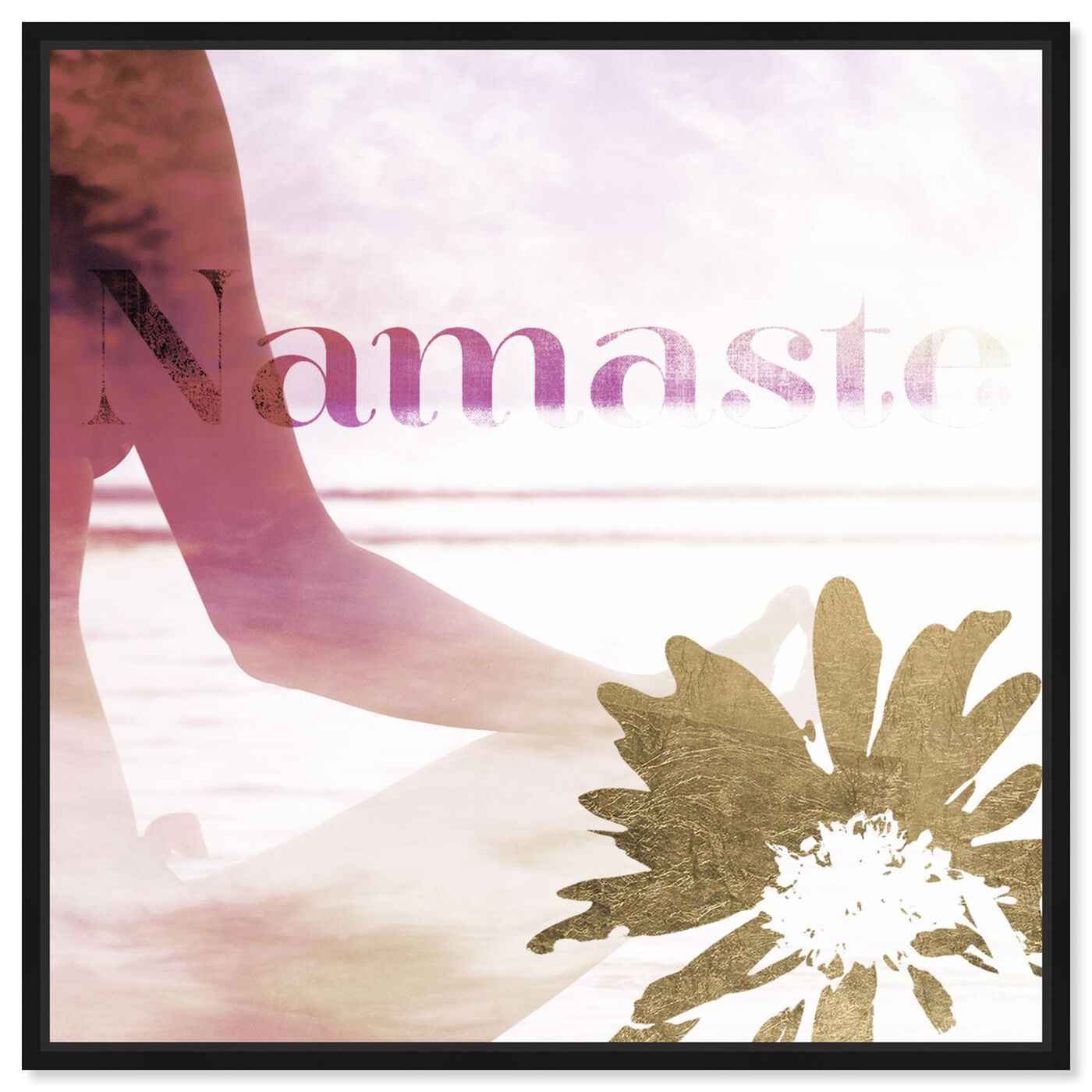 Front view of Namaste featuring typography and quotes and quotes and sayings art.