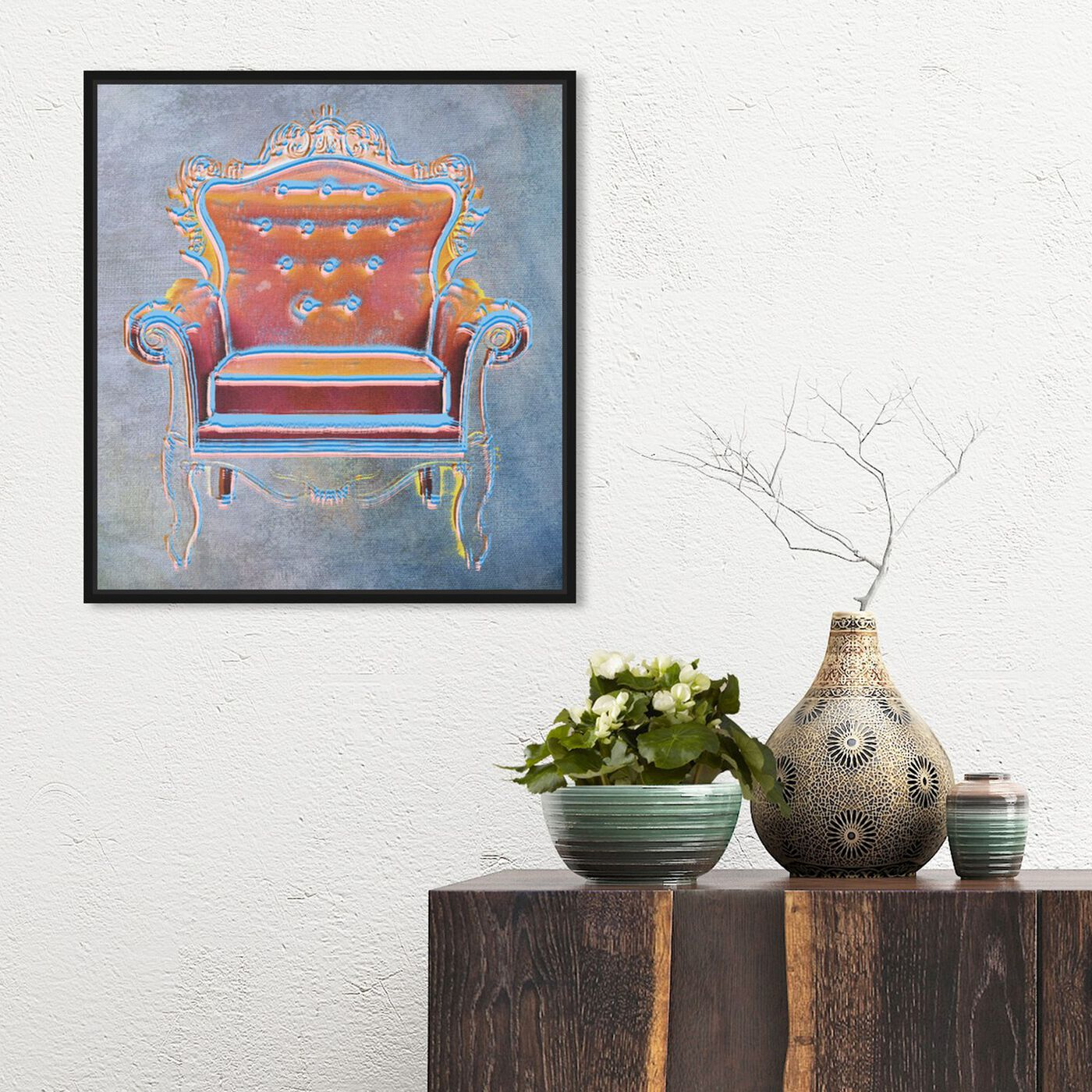 Hanging view of The Throne II featuring fashion and glam and lifestyle art.