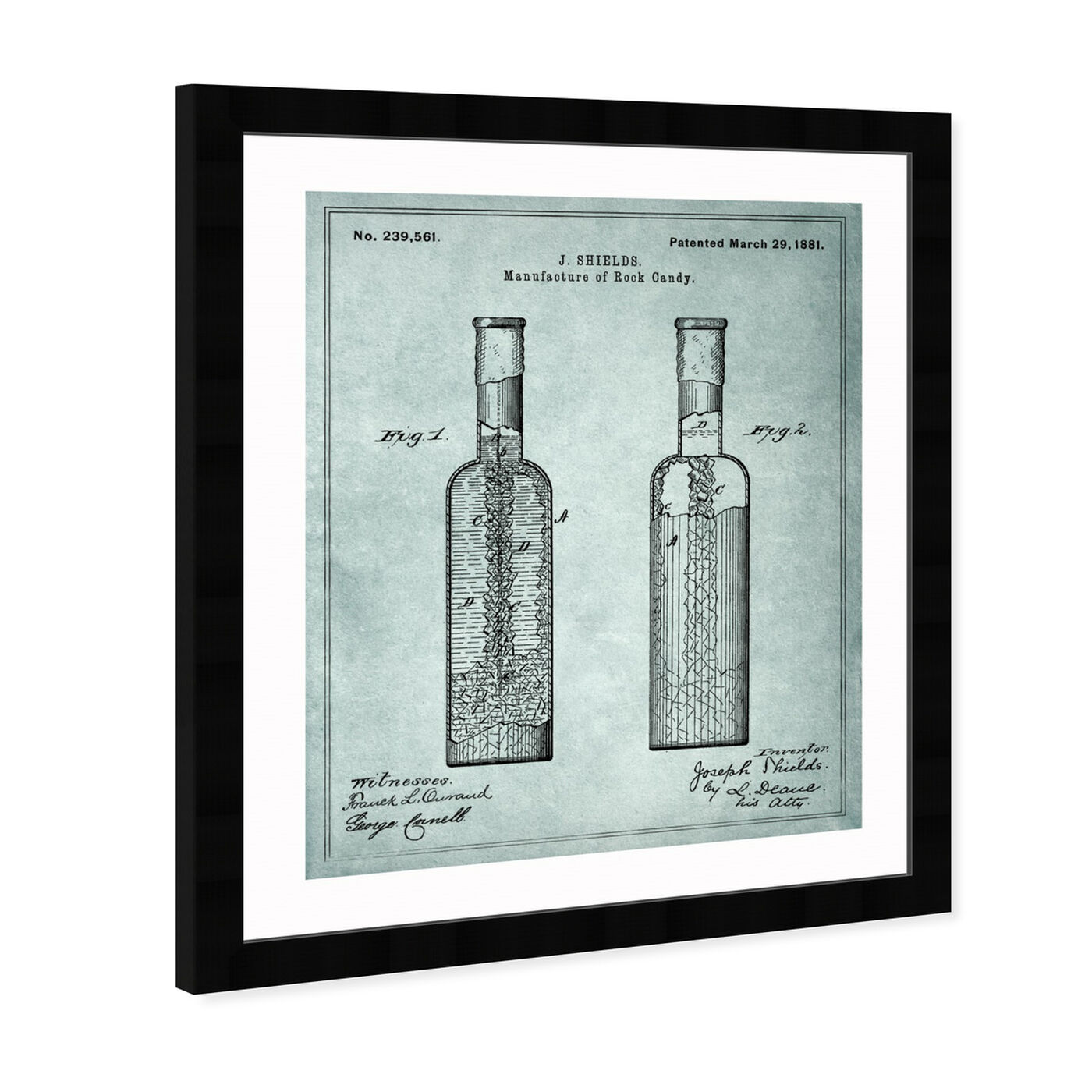 Angled view of Manufacture Of Rock-Candy 1881 featuring drinks and spirits and liquor art.