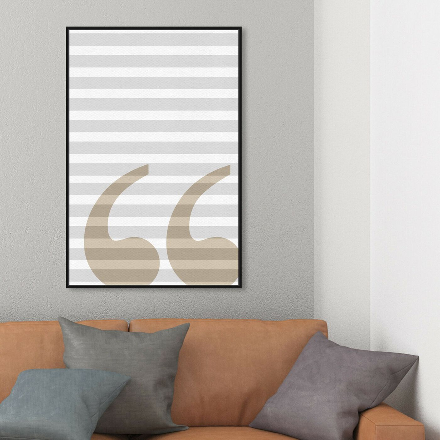 Hanging view of Grammar 101 featuring typography and quotes and letters and calligraphy art.