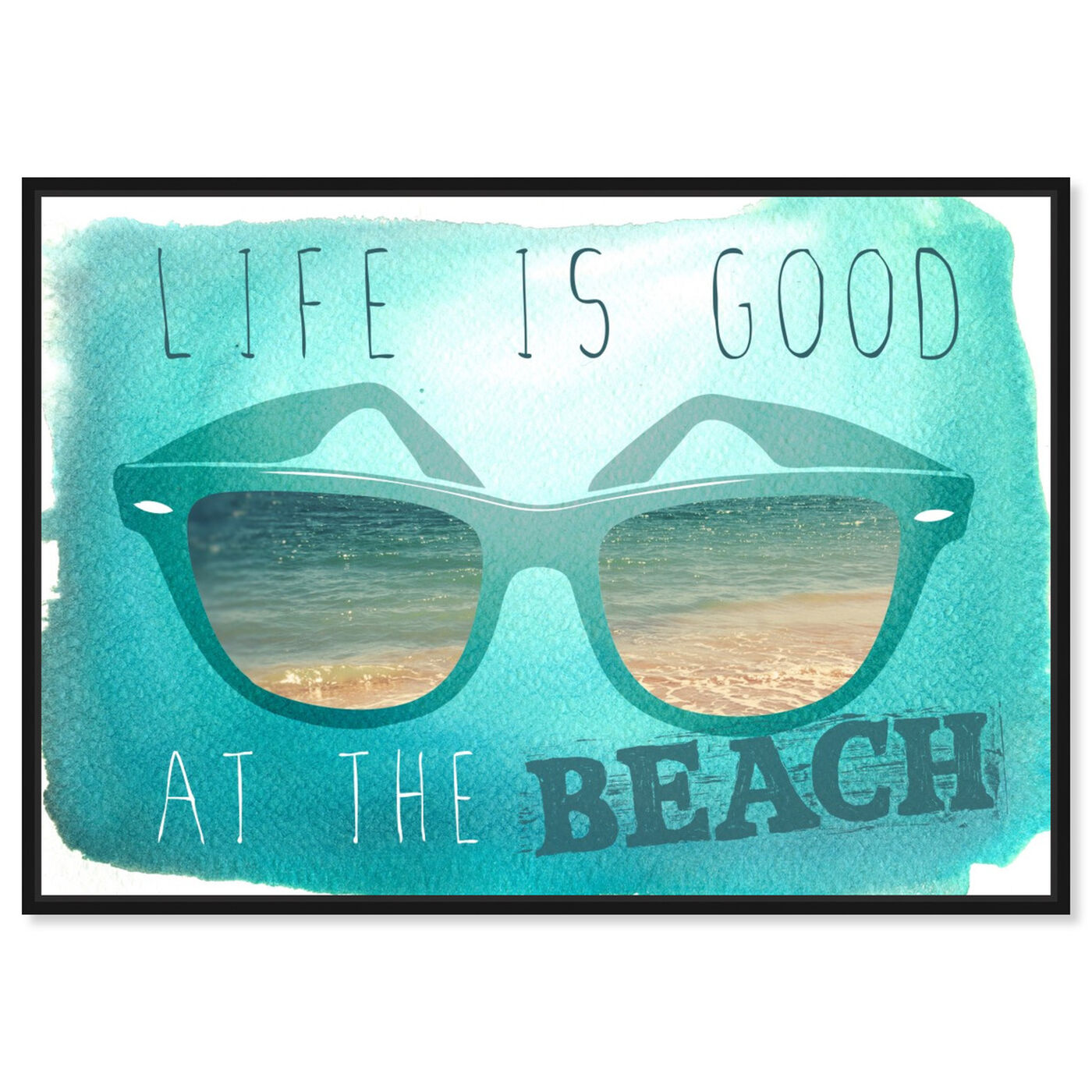 Front view of At The Beach featuring typography and quotes and quotes and sayings art.