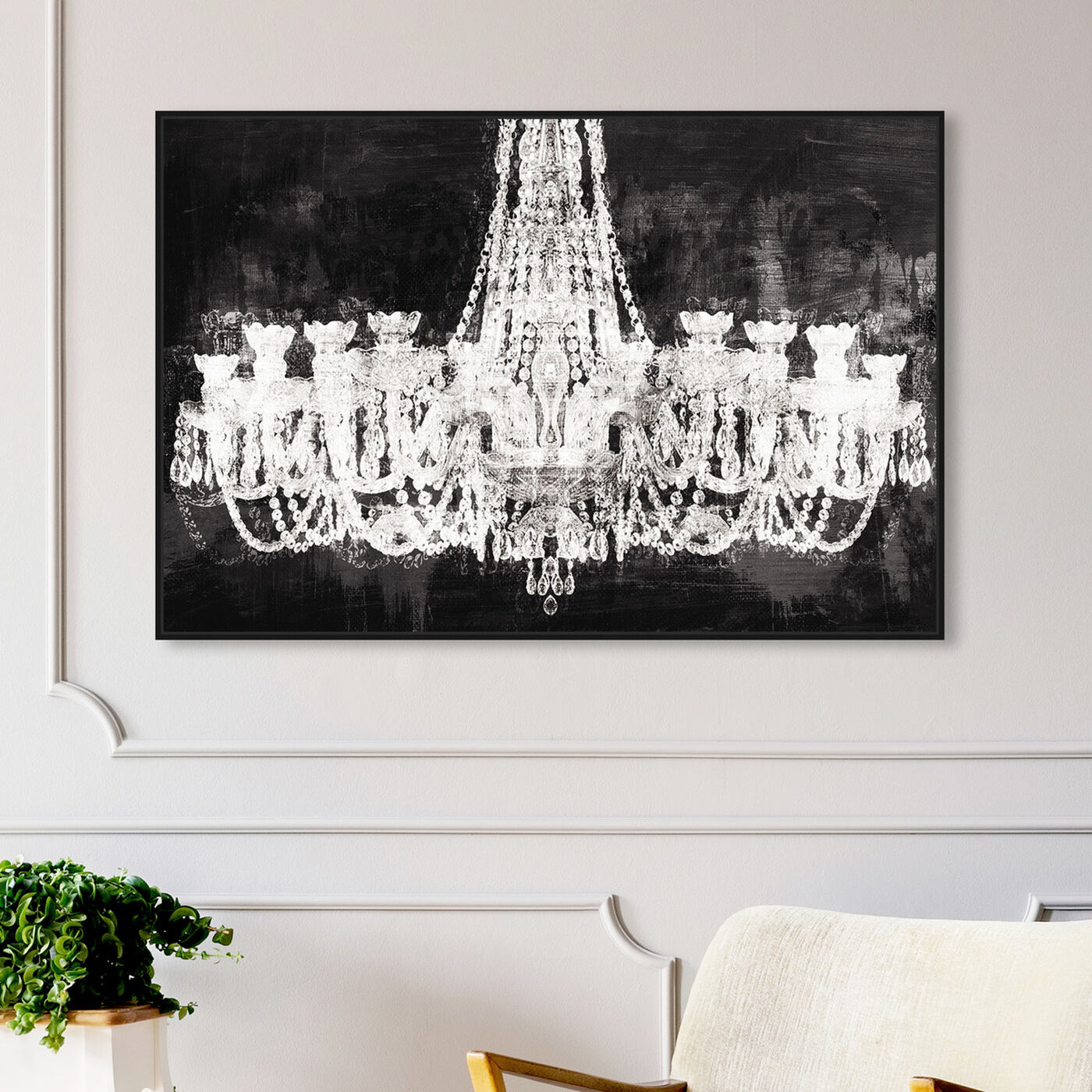 Hanging view of Decadent Soiree featuring fashion and glam and chandeliers art.