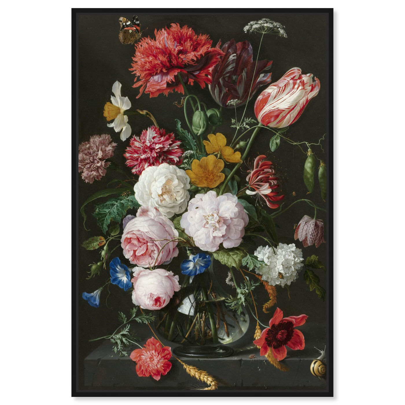 Front view of Flower Arrangement XIV - The Art Cabinet featuring floral and botanical and florals art.