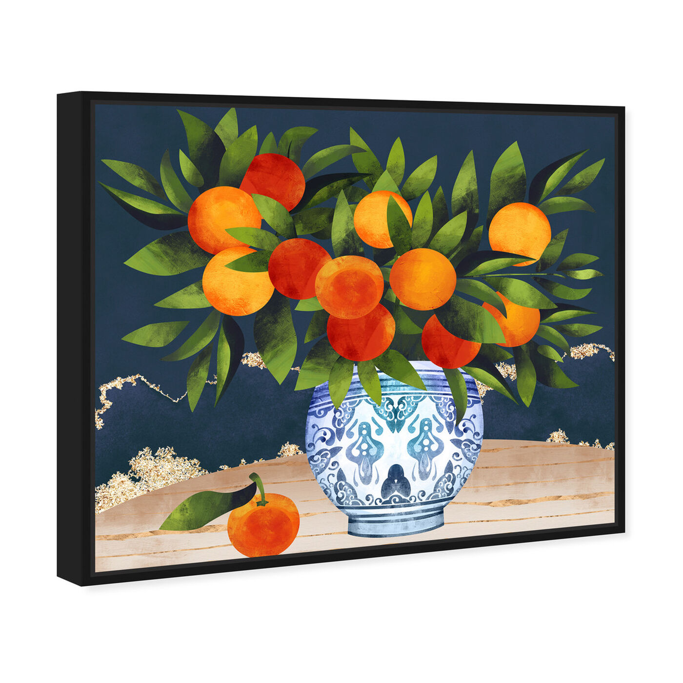 Angled view of Fruits and Porcelain featuring food and cuisine and fruits art.
