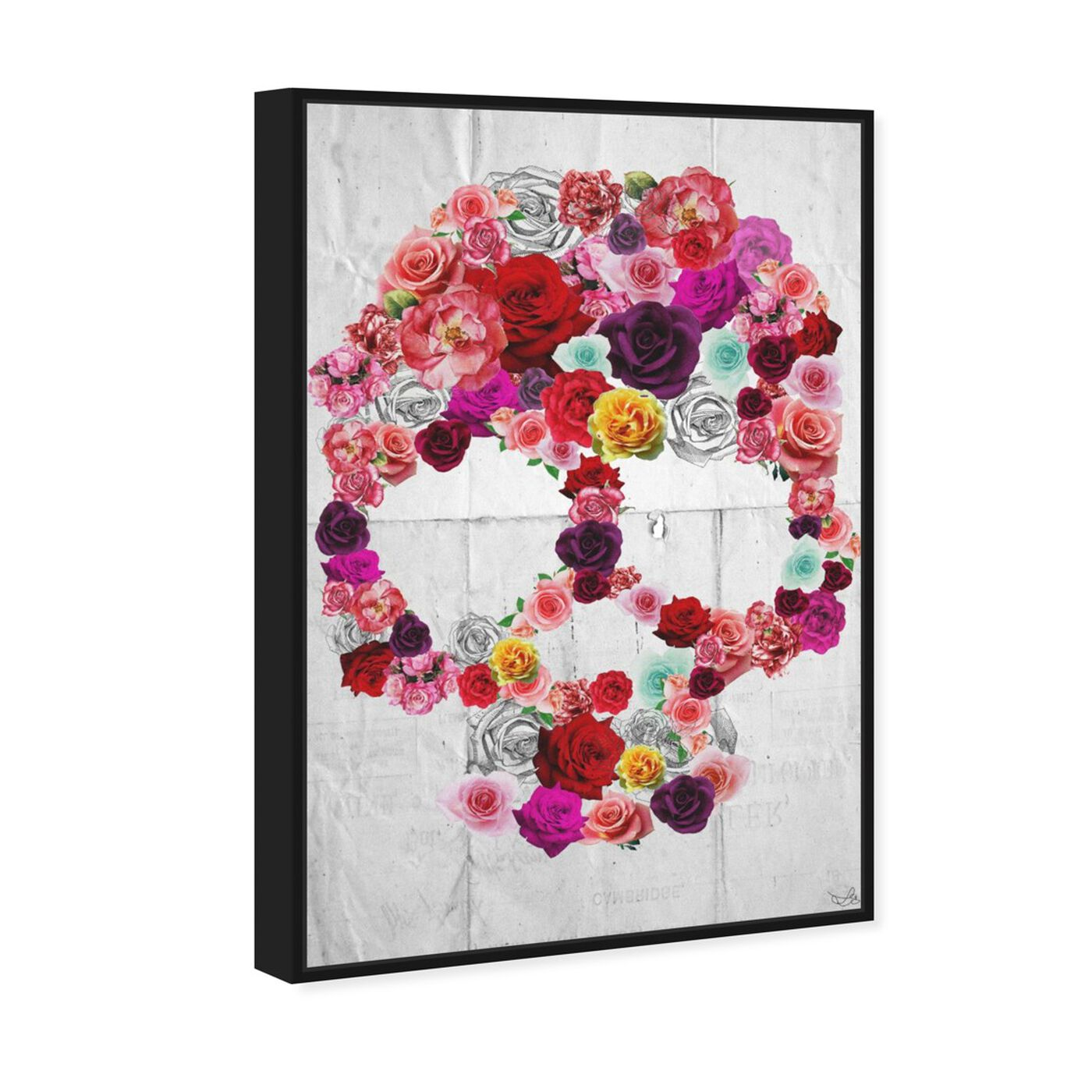 Angled view of Bed of Roses featuring floral and botanical and florals art.