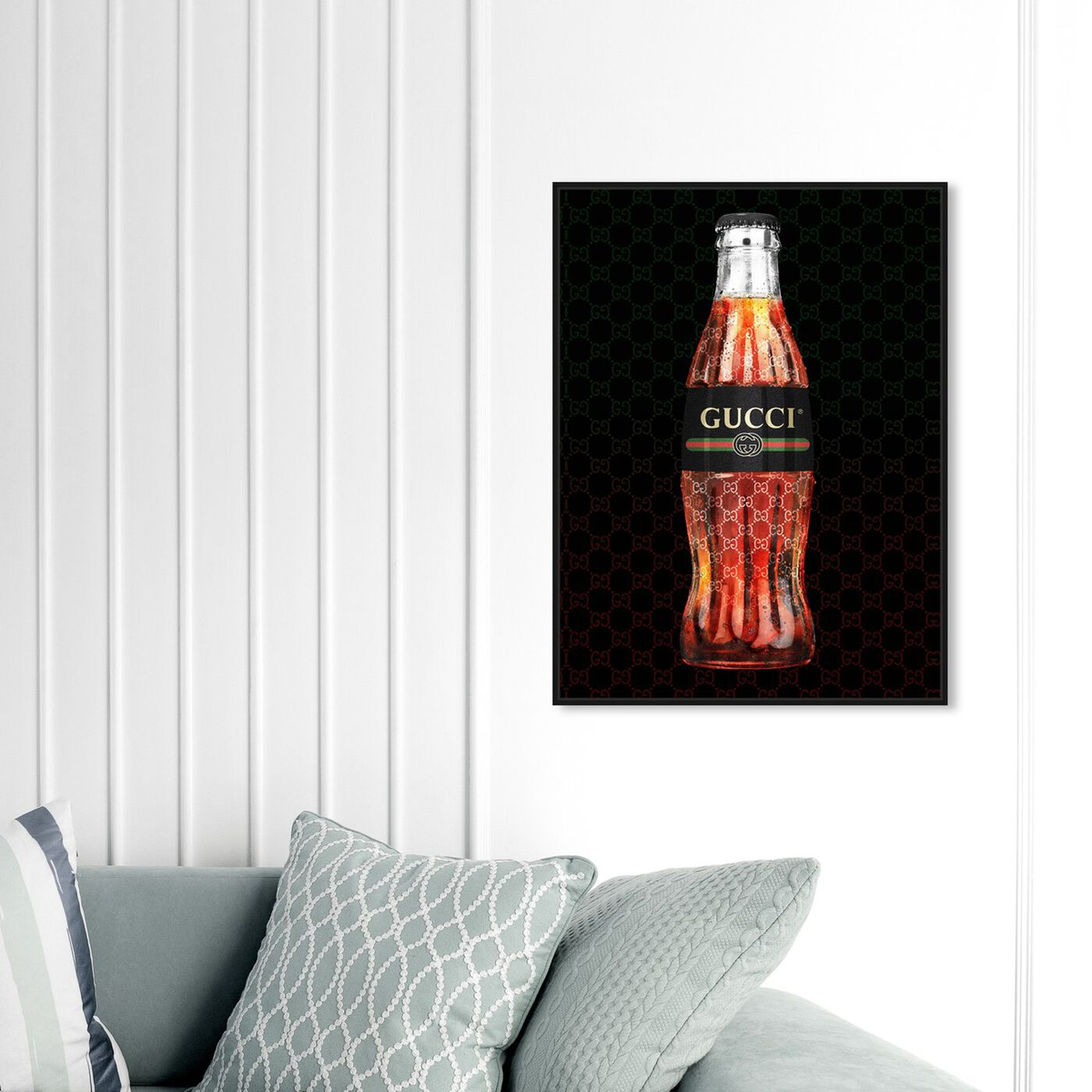 Hanging view of Italian Soda Bottle featuring drinks and spirits and soda art.
