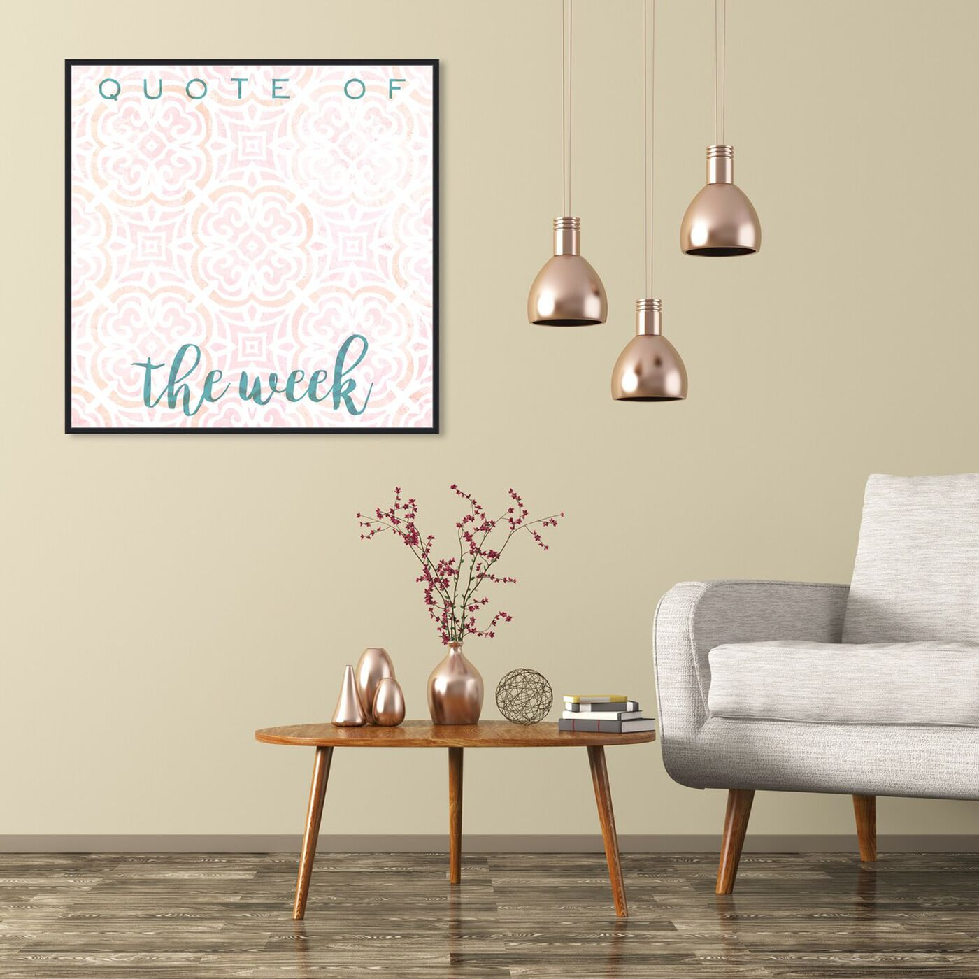 Hanging view of Quote Of The Week Bright featuring education and office and whiteboards art.