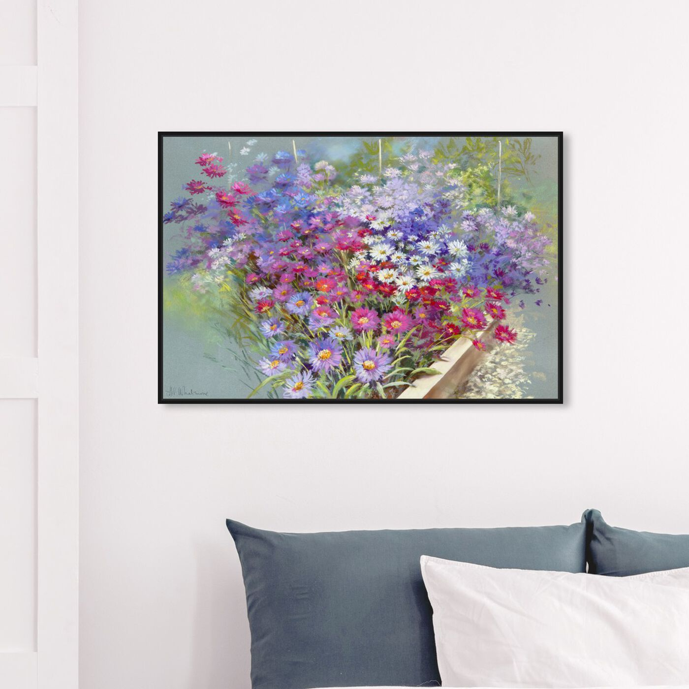 Hanging view of Sai - Shades of Lavander 3NW3403 featuring floral and botanical and florals art.