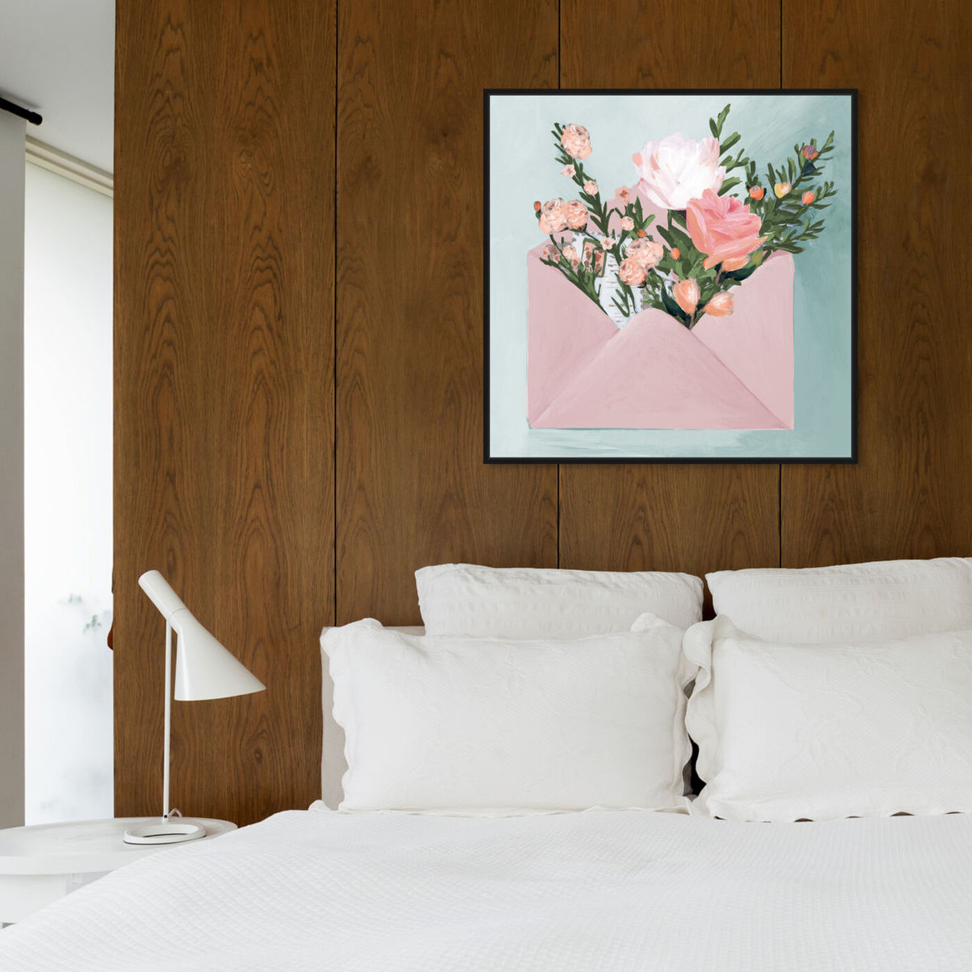 Hanging view of Pastel Flower Mail featuring floral and botanical and florals art.