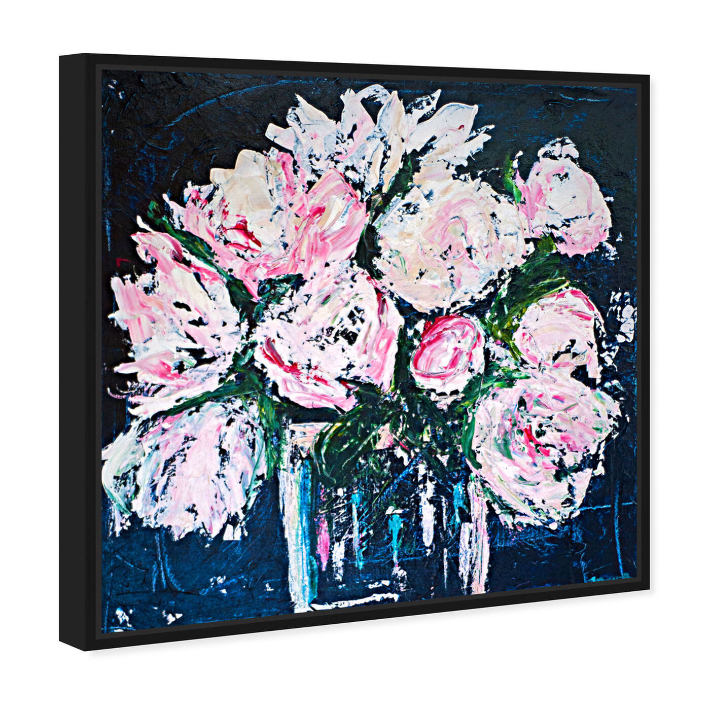 Angled view of Peonies by The Bucket by Claire Sower featuring floral and botanical and florals art.