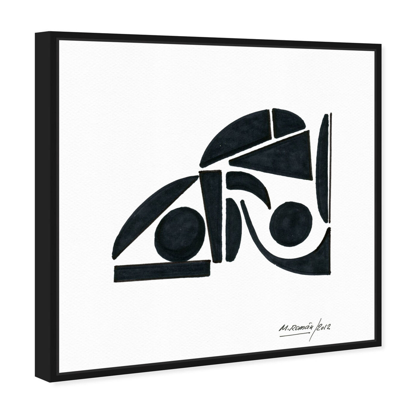 Angled view of Manuel Roman - Abstracto featuring abstract and shapes art.