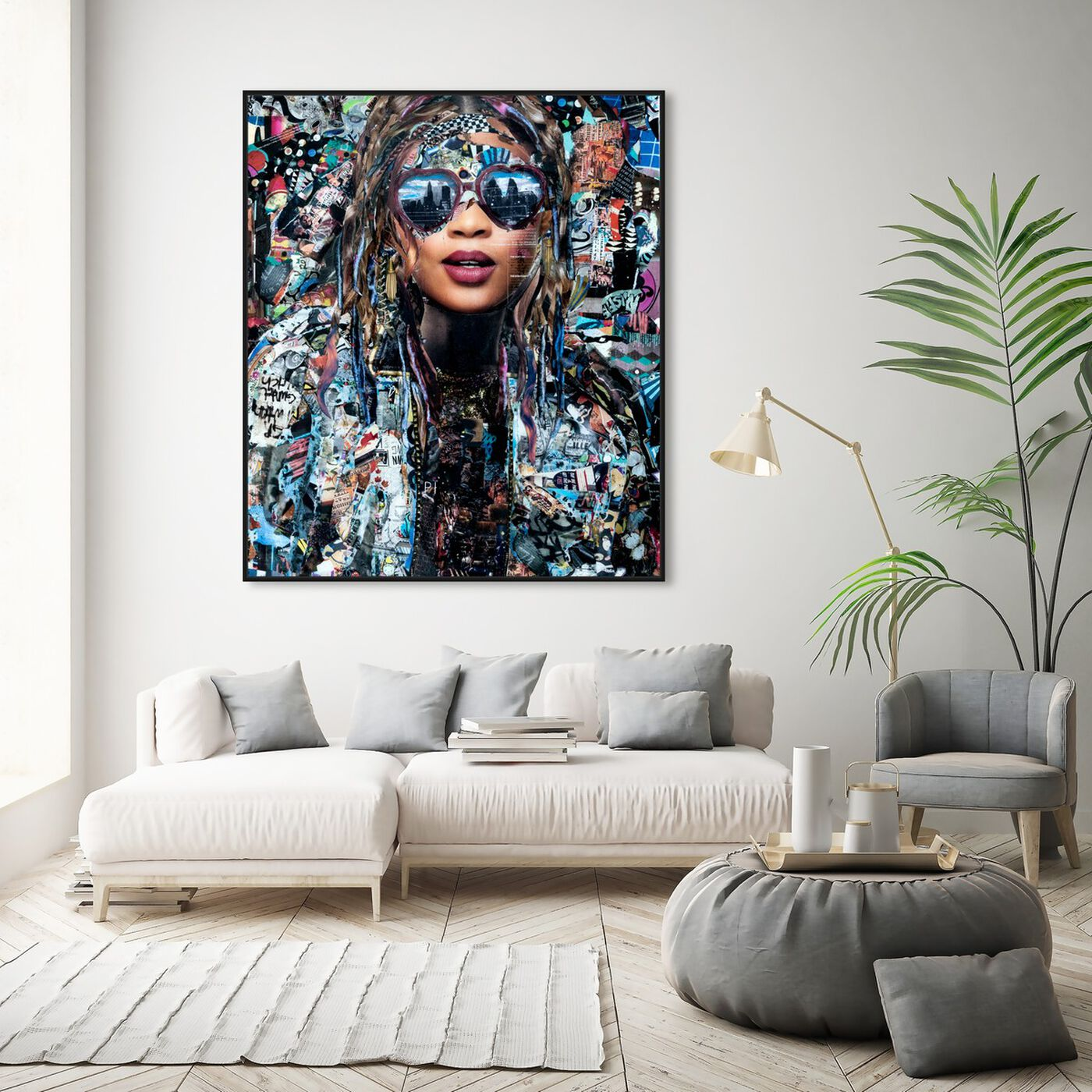 Hanging view of Katy Hirschfeld - OnlyDreaming featuring fashion and glam and portraits art.