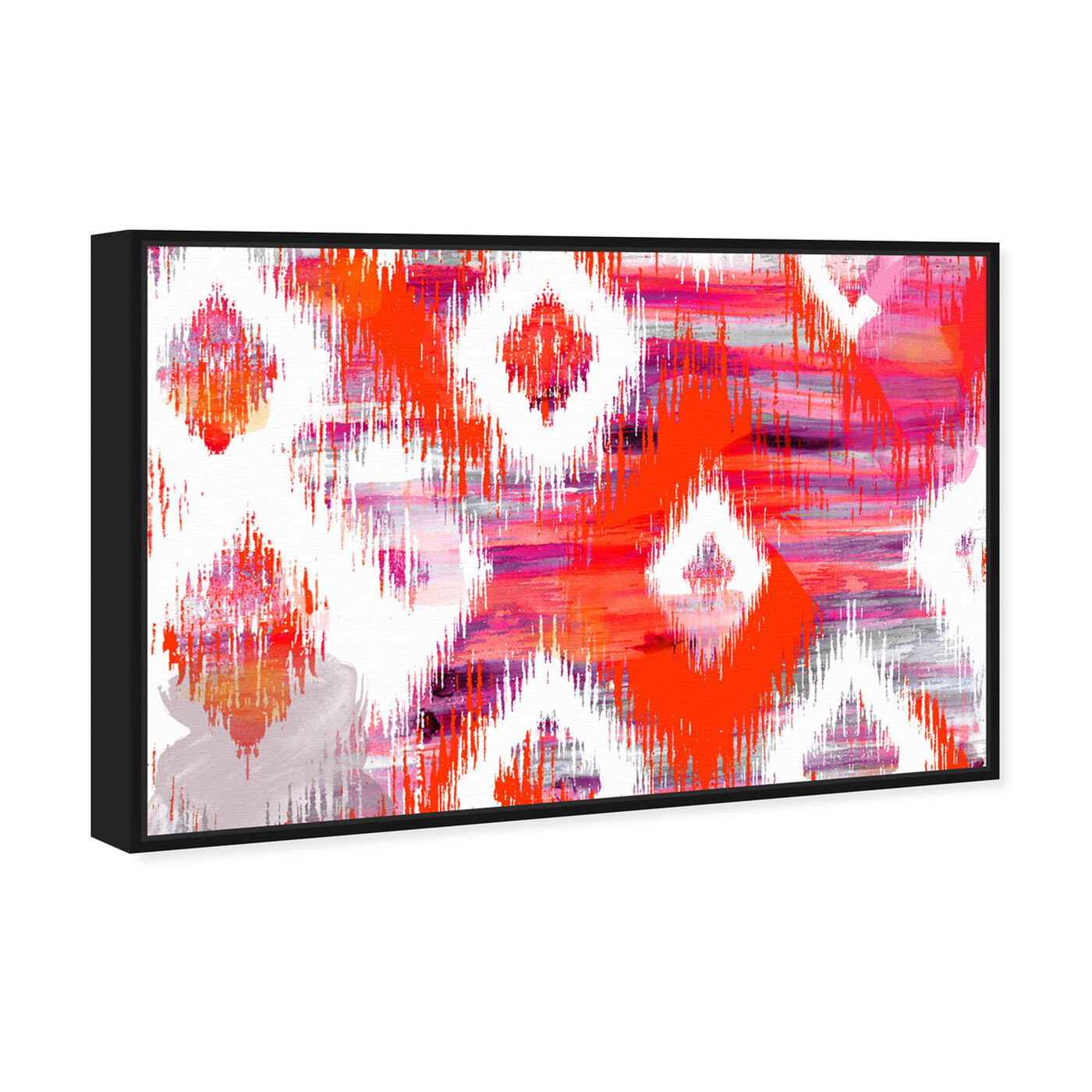 Angled view of Hello Summer! featuring abstract and geometric art.