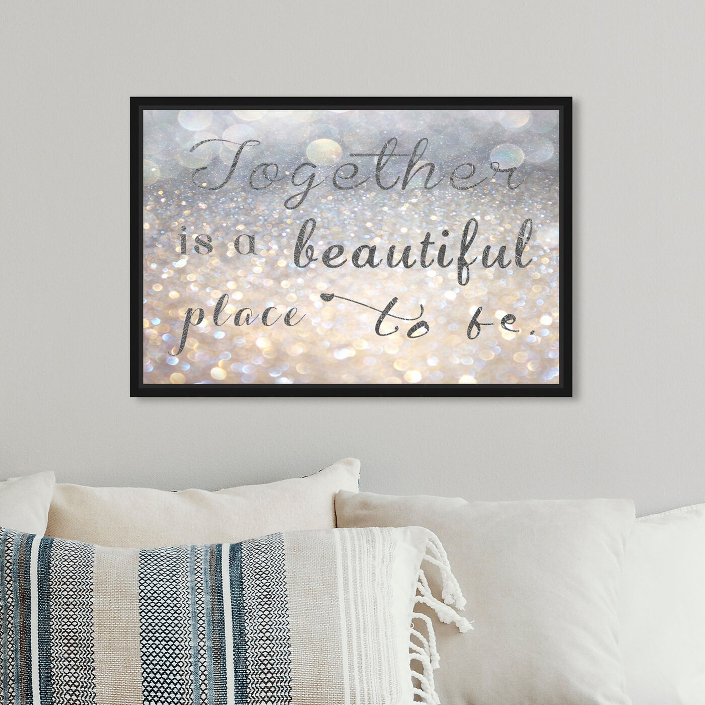 Hanging view of Beautiful Place to Be featuring typography and quotes and family quotes and sayings art.