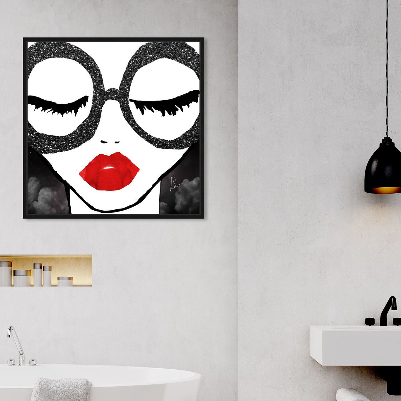 Hanging view of She is all that featuring fashion and glam and portraits art.