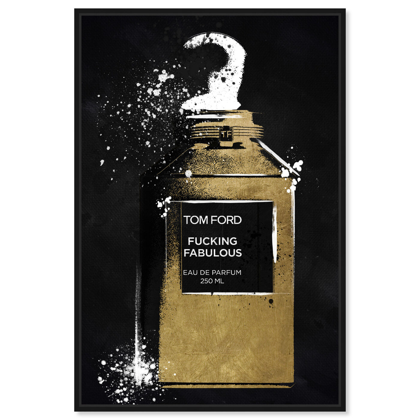 Front view of Fabulous Noir Perfume featuring fashion and glam and perfumes art.