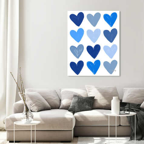 Corey Paige- Blue Painted Hearts
