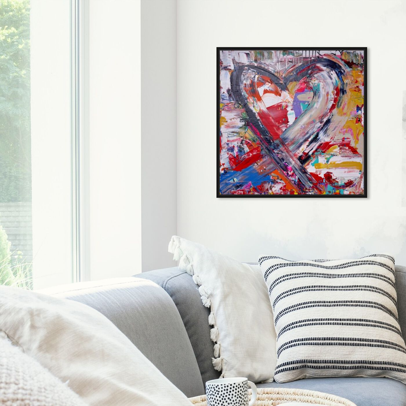 Hanging view of Fallen In Love featuring fashion and glam and hearts art.