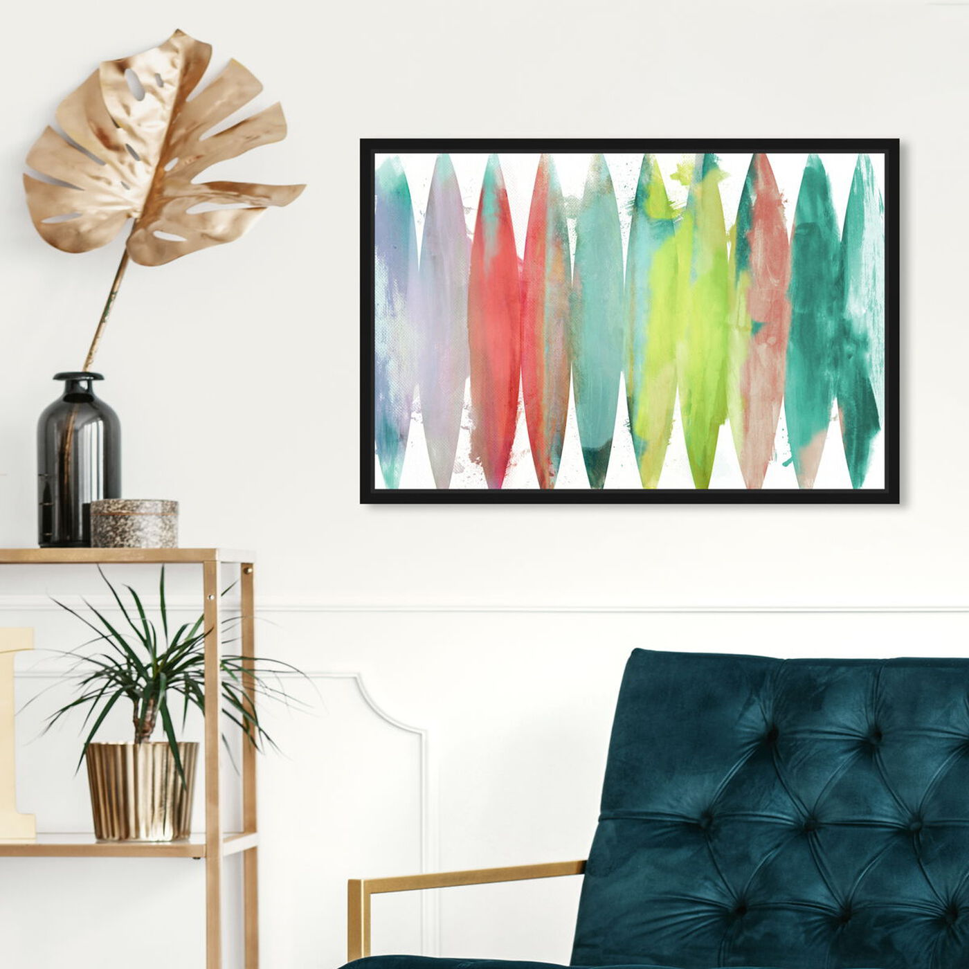 Hanging view of Paradise Found Bright featuring abstract and paint art.