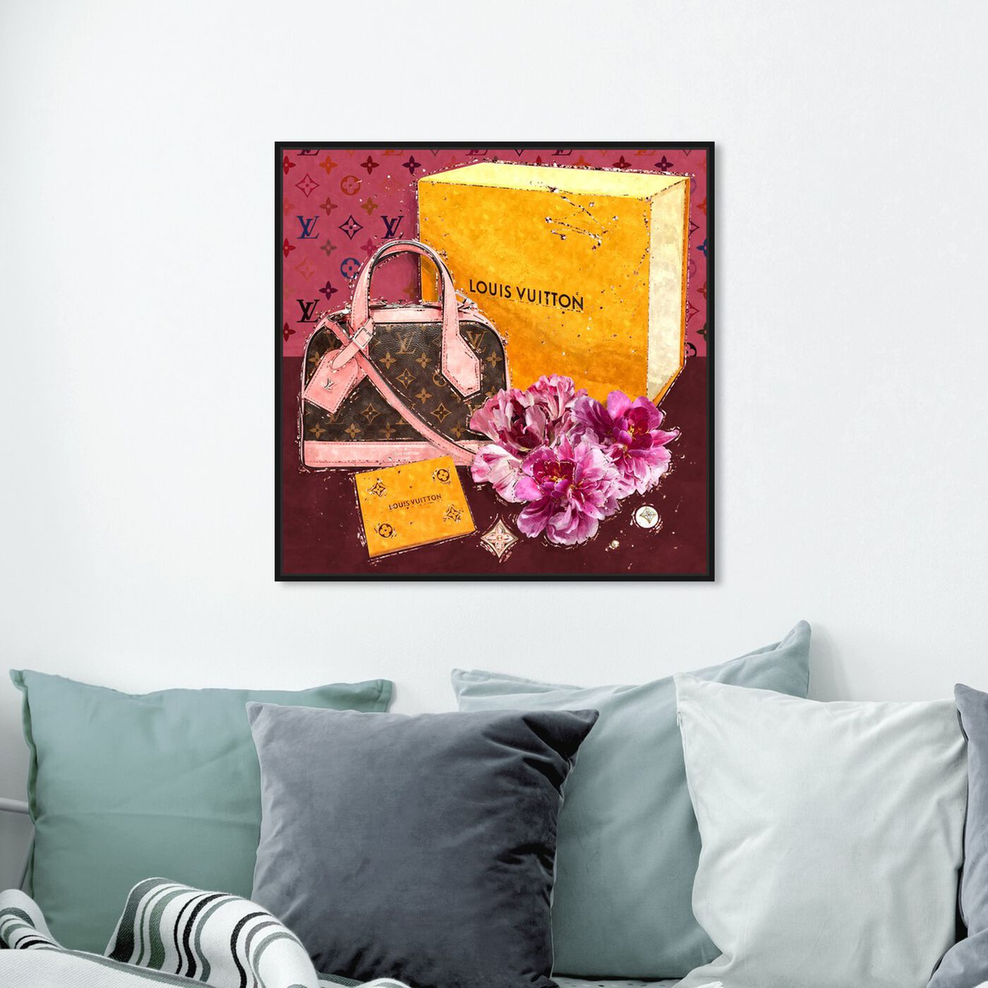 Hanging view of Garden Treasures featuring fashion and glam and handbags art.