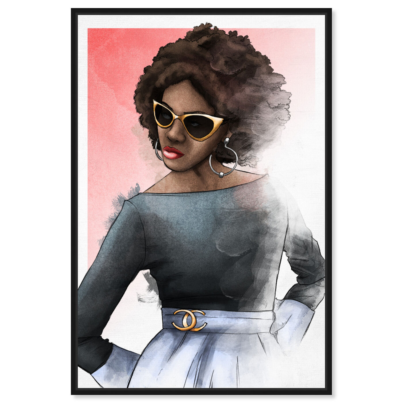 Front view of Chic Glam featuring fashion and glam and outfits art.