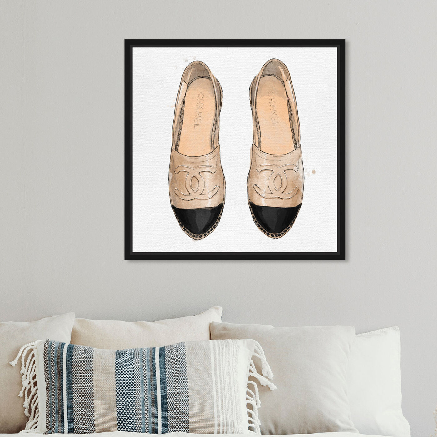 Hanging view of Lady Slippers featuring fashion and glam and shoes art.