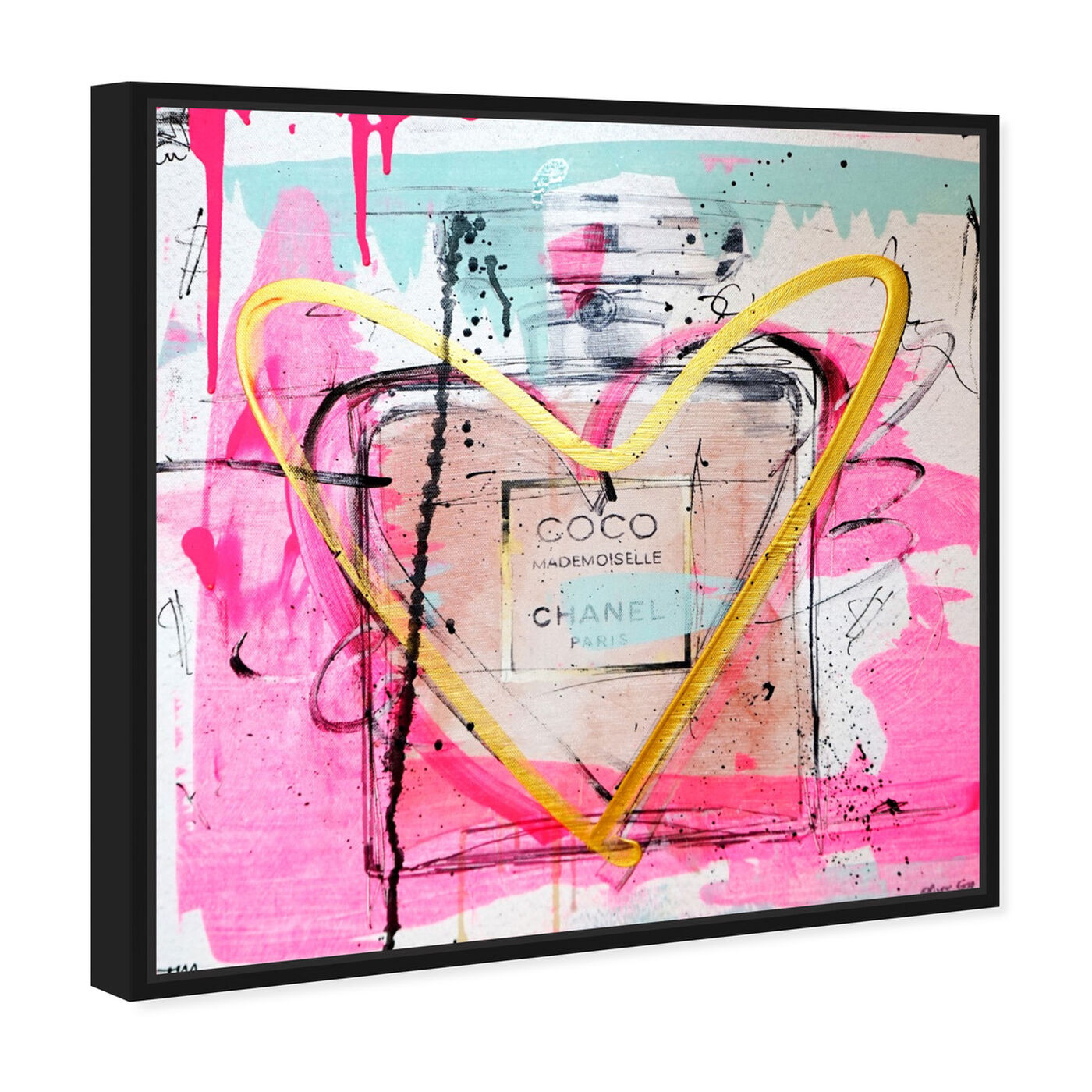 Angled view of Mademoiselle Remix featuring fashion and glam and perfumes art.