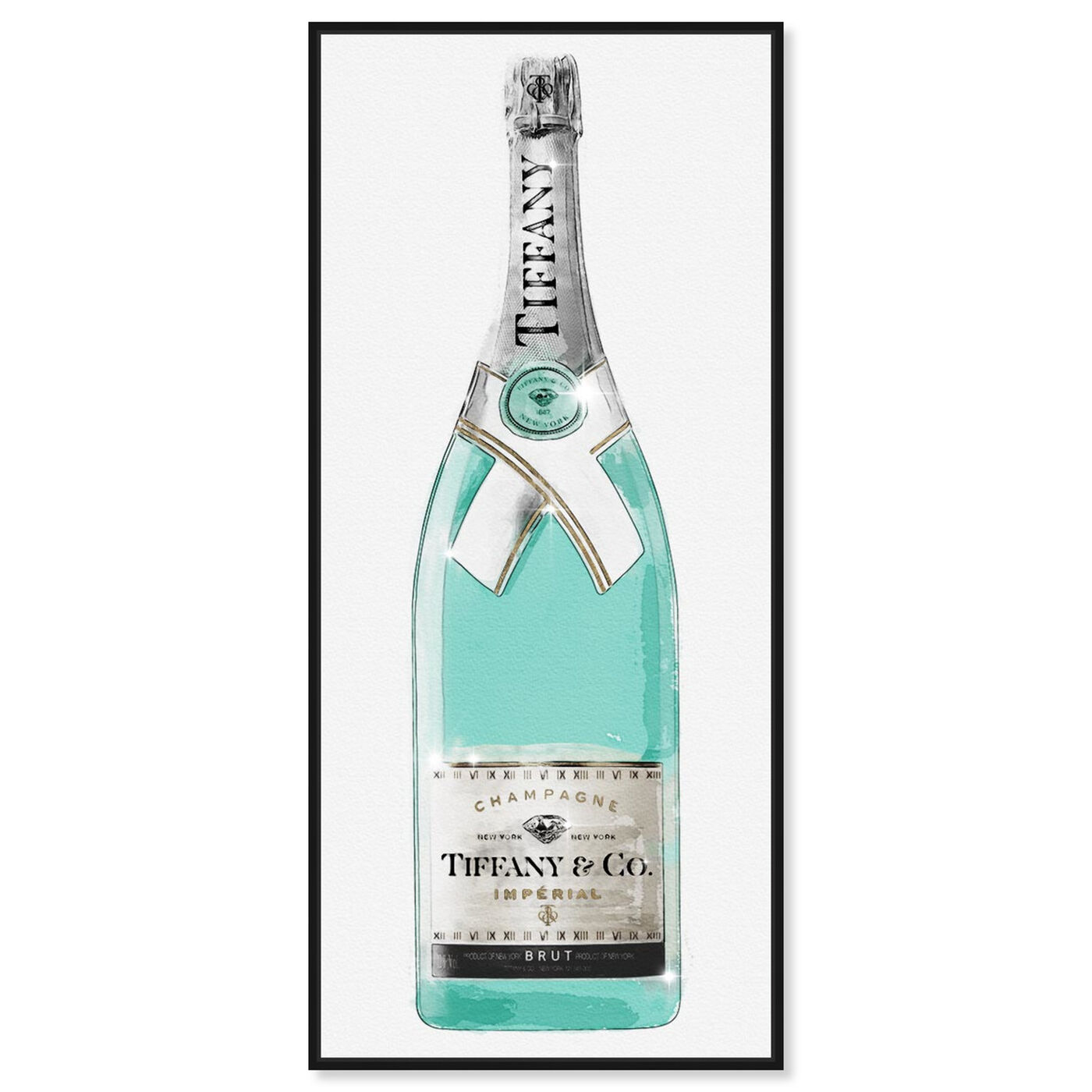 Front view of Priceless Champagne Tall II featuring drinks and spirits and champagne art.