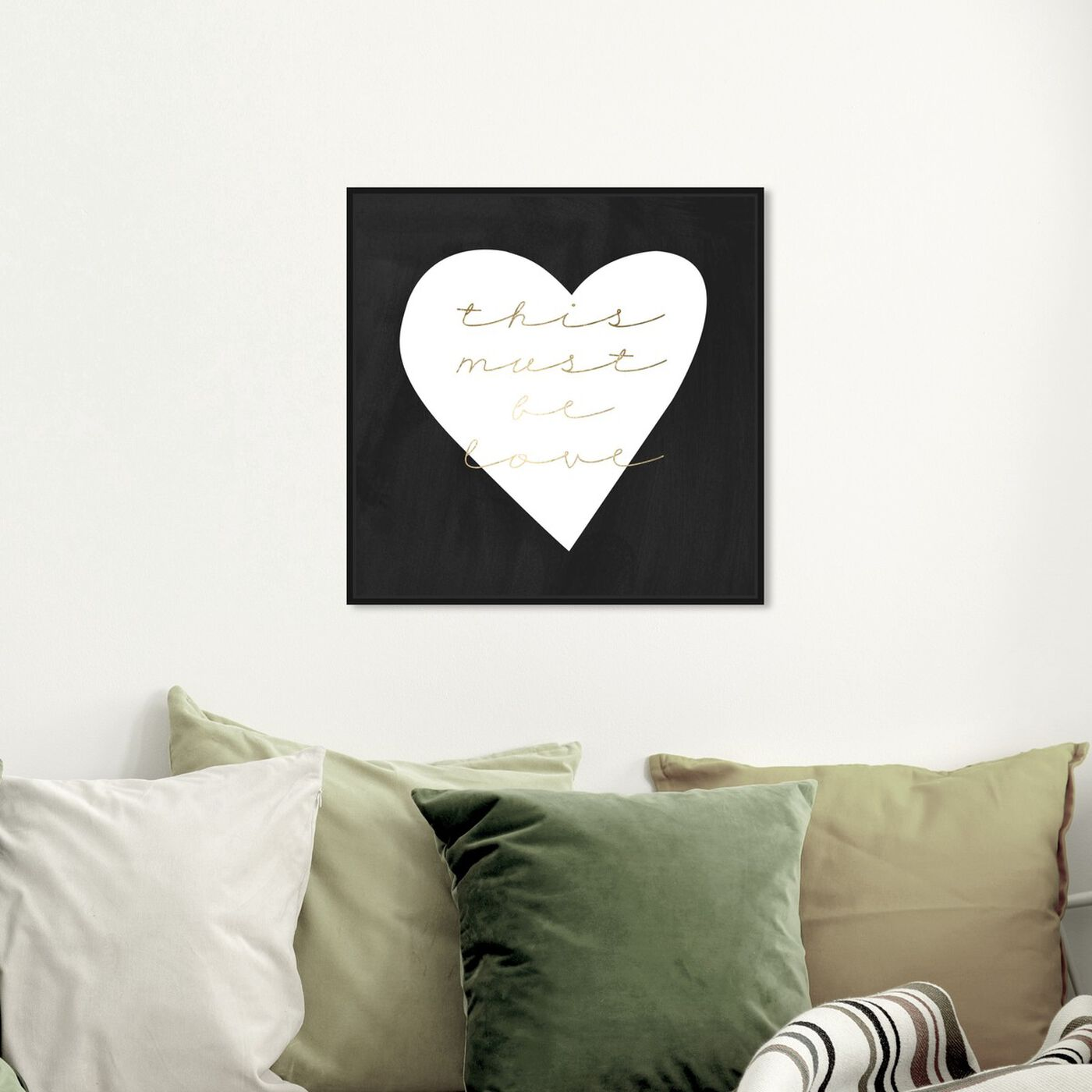 Hanging view of Must be Love featuring typography and quotes and love quotes and sayings art.