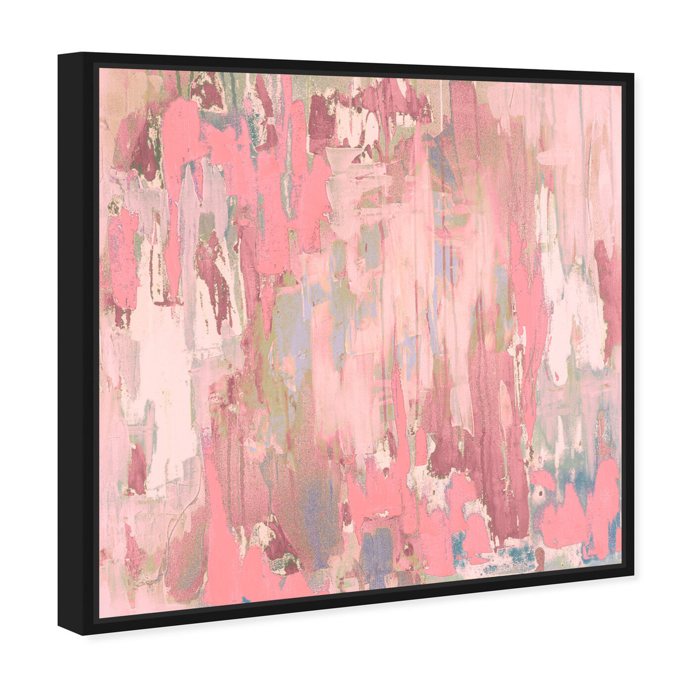 Angled view of Marissa Anderson - Blush Swan Lake featuring abstract and paint art.