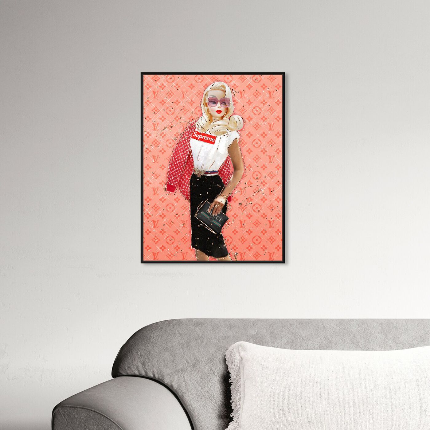 Hanging view of Get Over It featuring fashion and glam and dolls art.