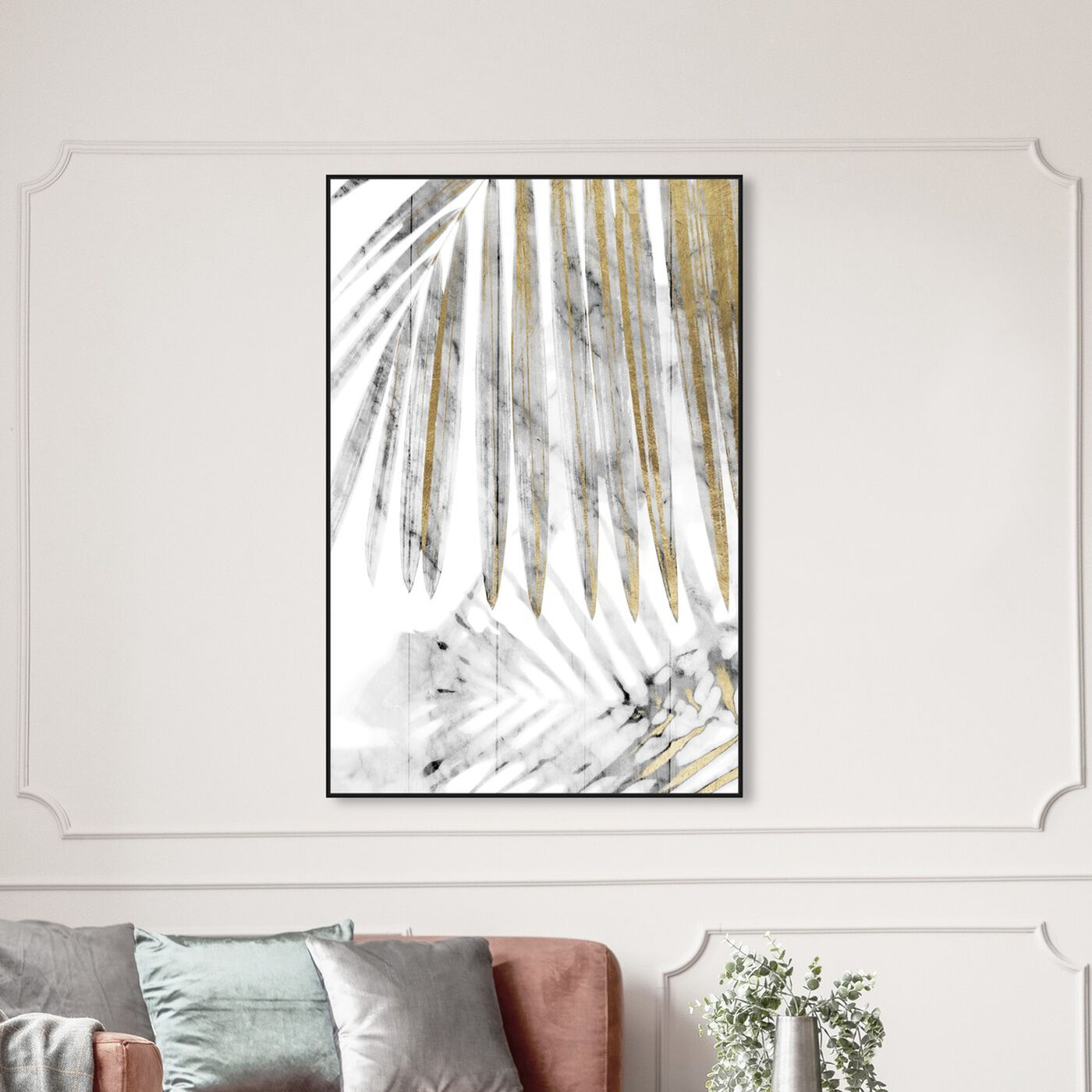 Hanging view of Golden Afternoon View featuring floral and botanical and botanicals art.