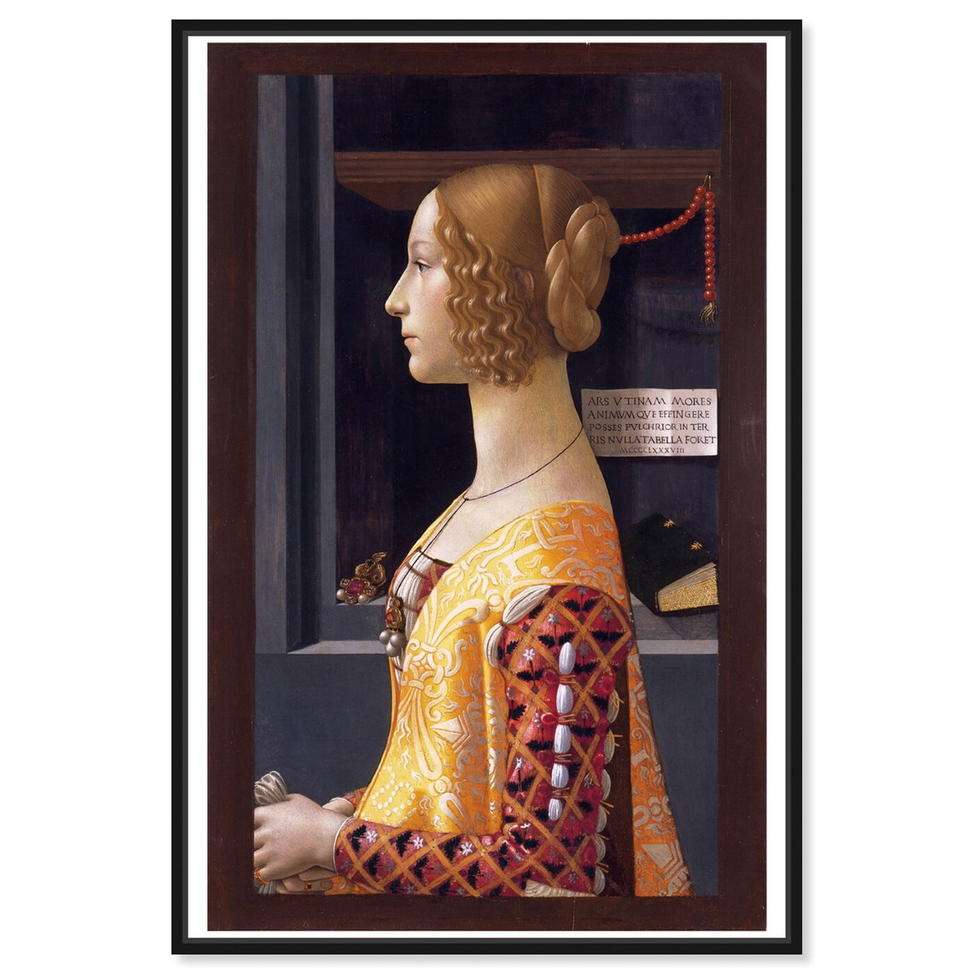 Front view of Ghirlandaio - Giovanna Tornabuoni featuring classic and figurative and renaissance art.
