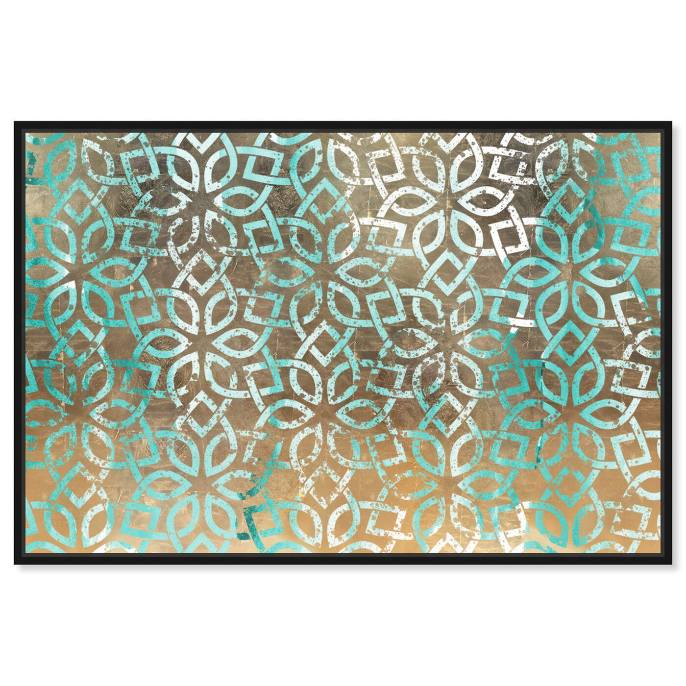 Front view of Regal Jade Lattice featuring abstract and patterns art.