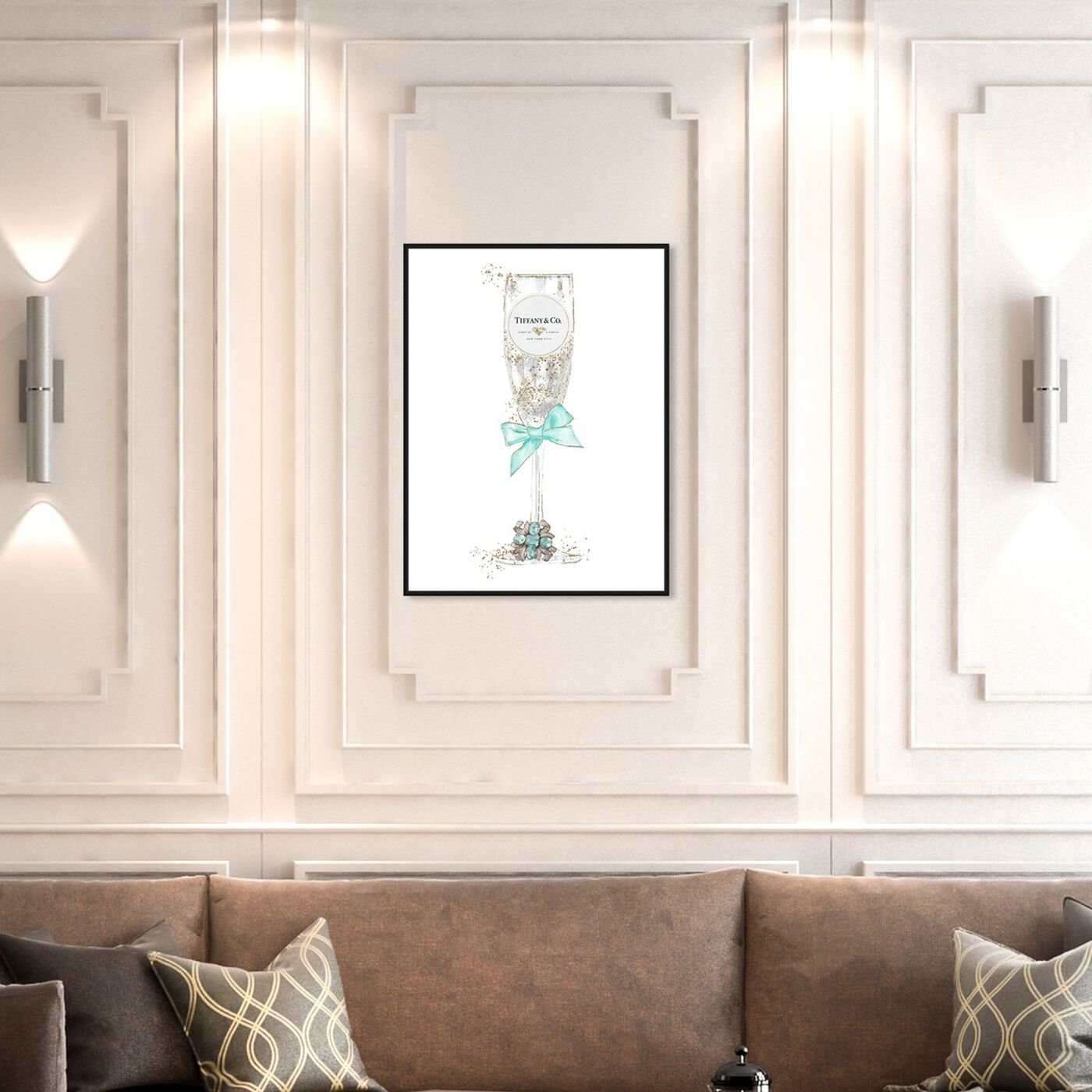 Hanging view of Delicate Royal Bubbly Champagne featuring fashion and glam and jewelry art.