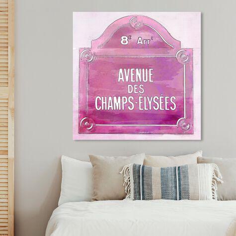 Avenue Des Champs Elysees Pink