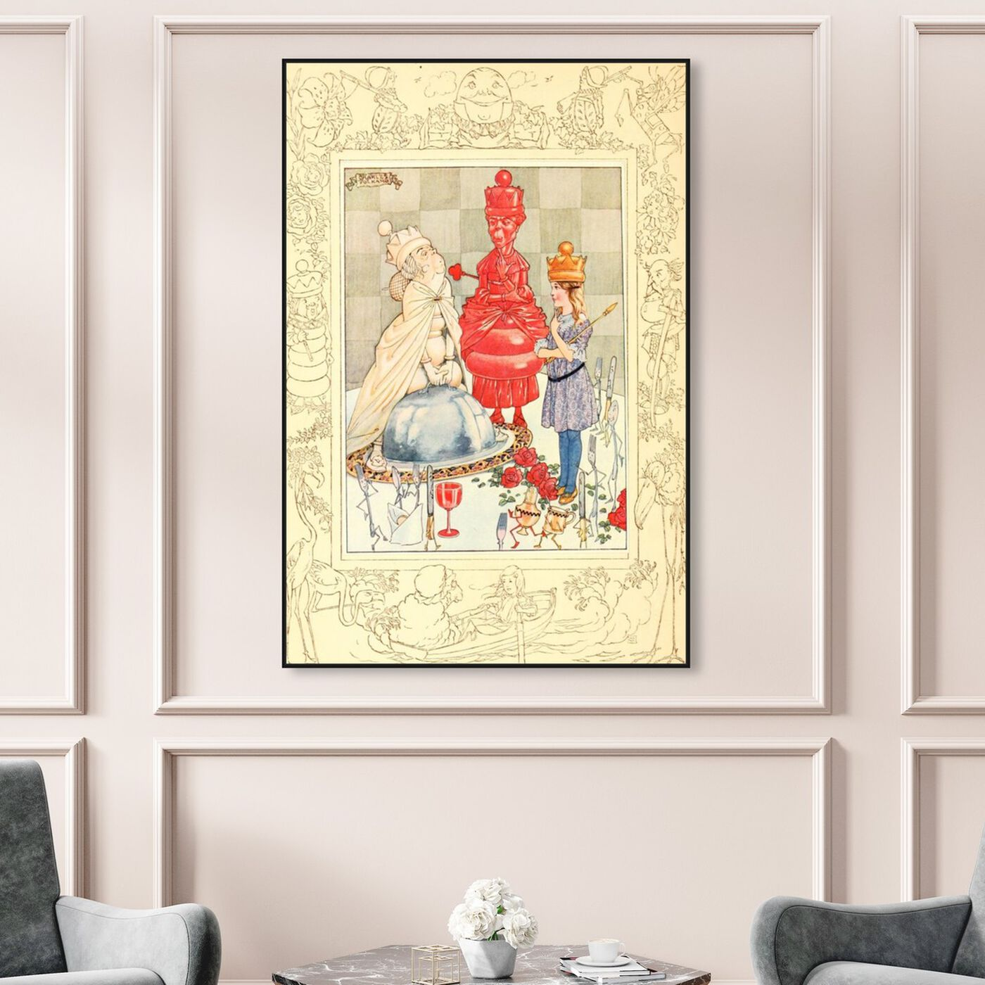 Hanging view of Alice Queen of Wonderland featuring fantasy and sci-fi and fairy tales art.