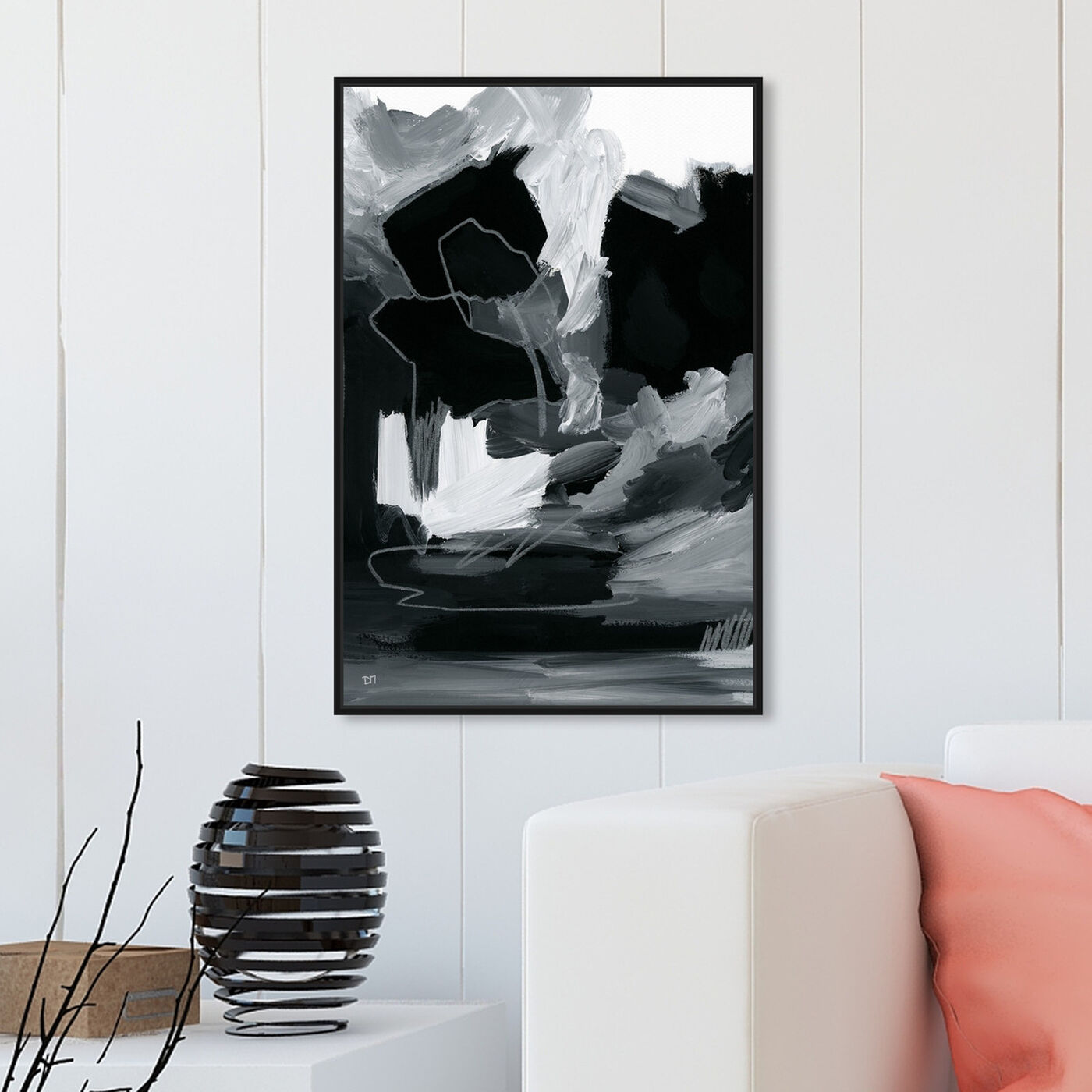 Hanging view of Manchas featuring abstract and paint art.
