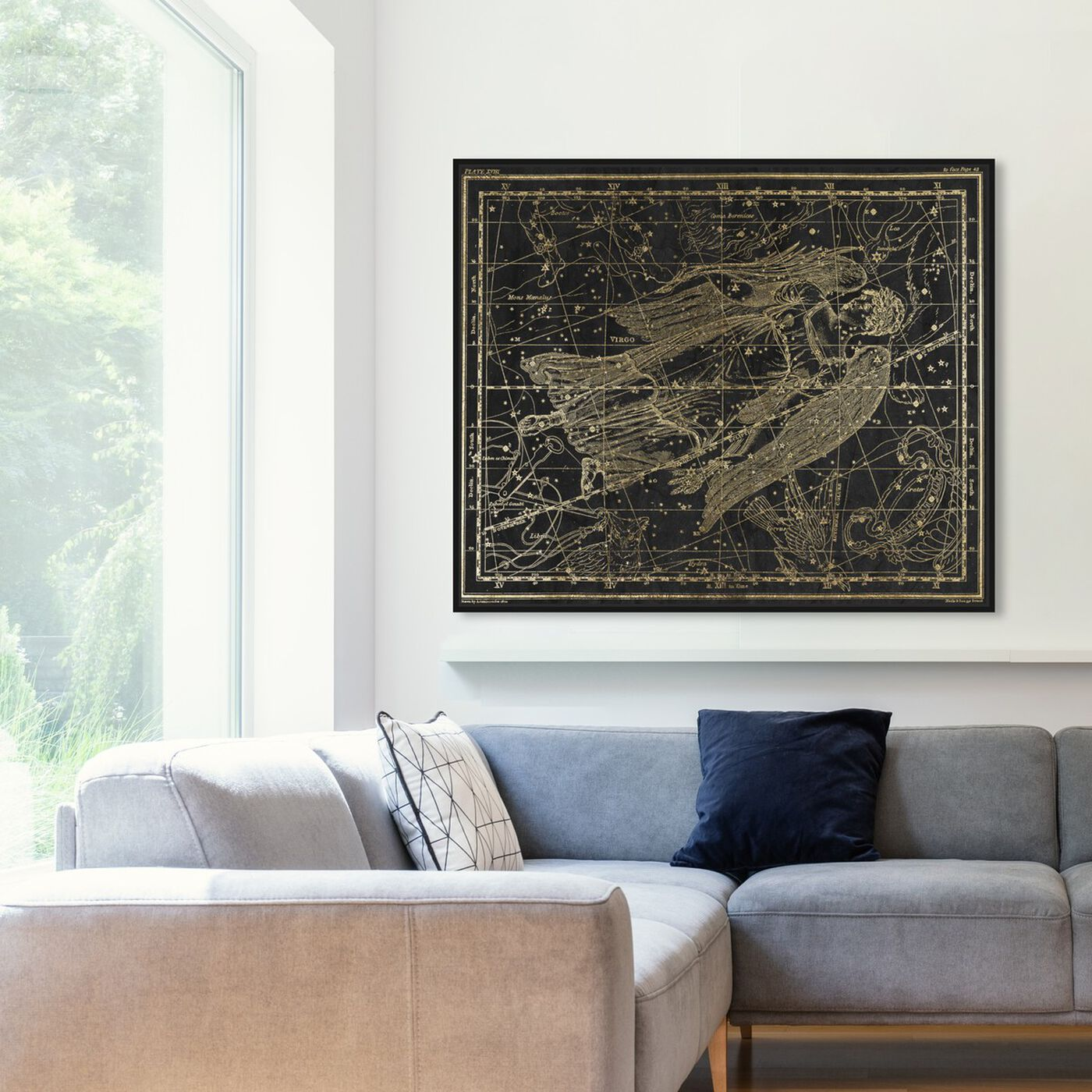Hanging view of Virgo featuring spiritual and religious and zodiac art.