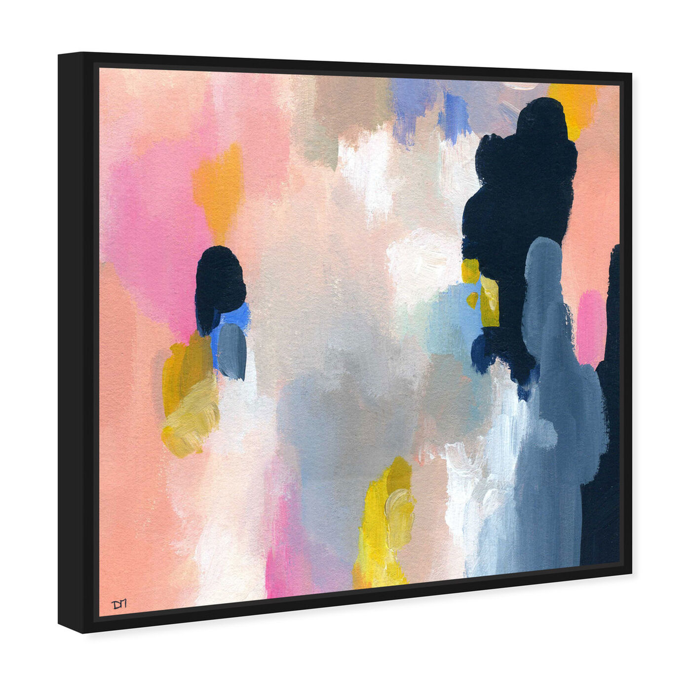 Angled view of Happy Thoughts featuring abstract and paint art.