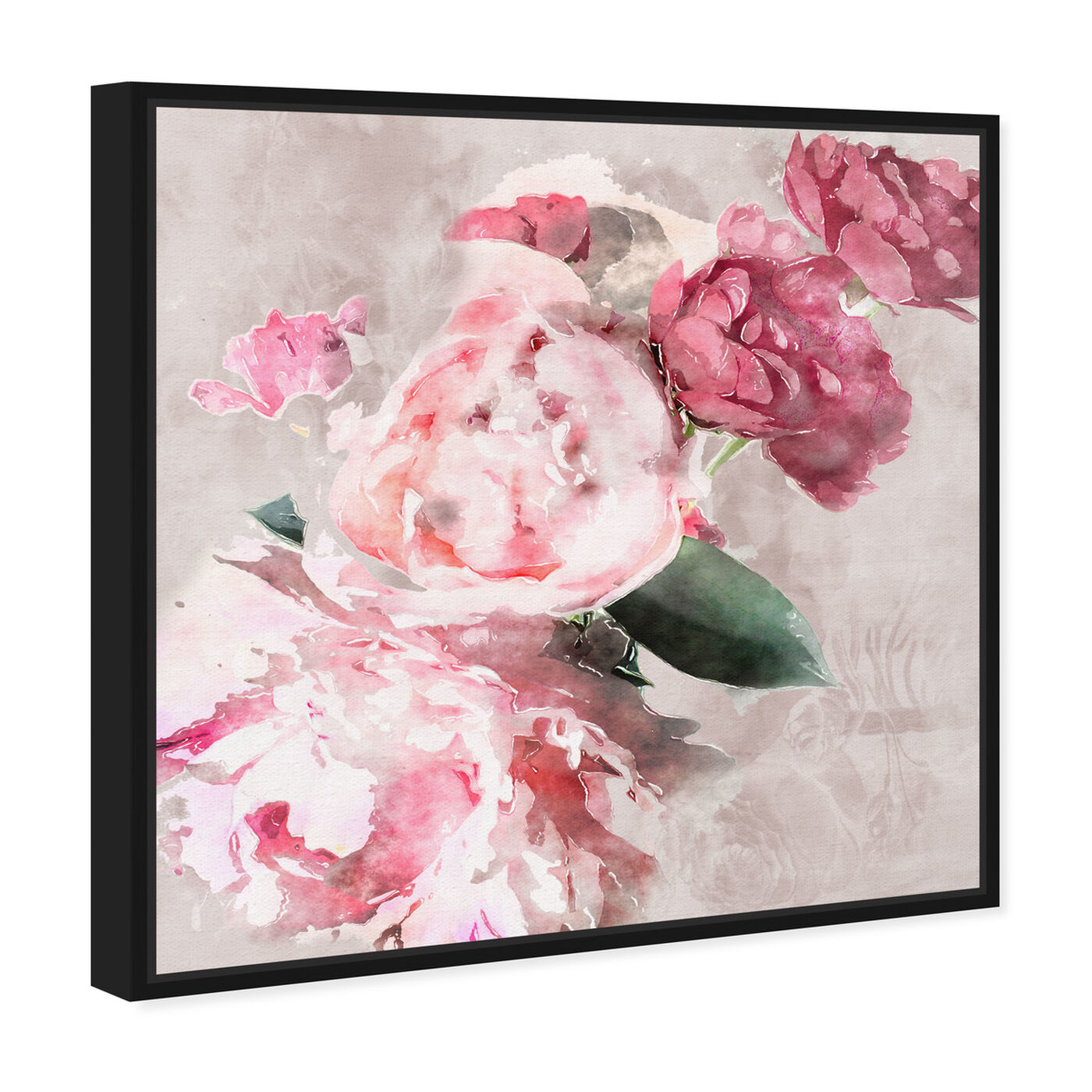 Angled view of Soft Romantic featuring floral and botanical and florals art.