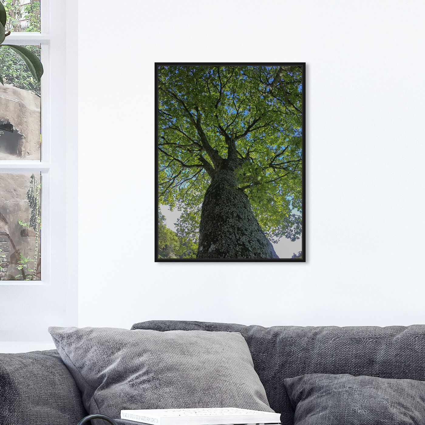 Hanging view of Curro Cardenal - One Great Green II featuring floral and botanical and trees art.