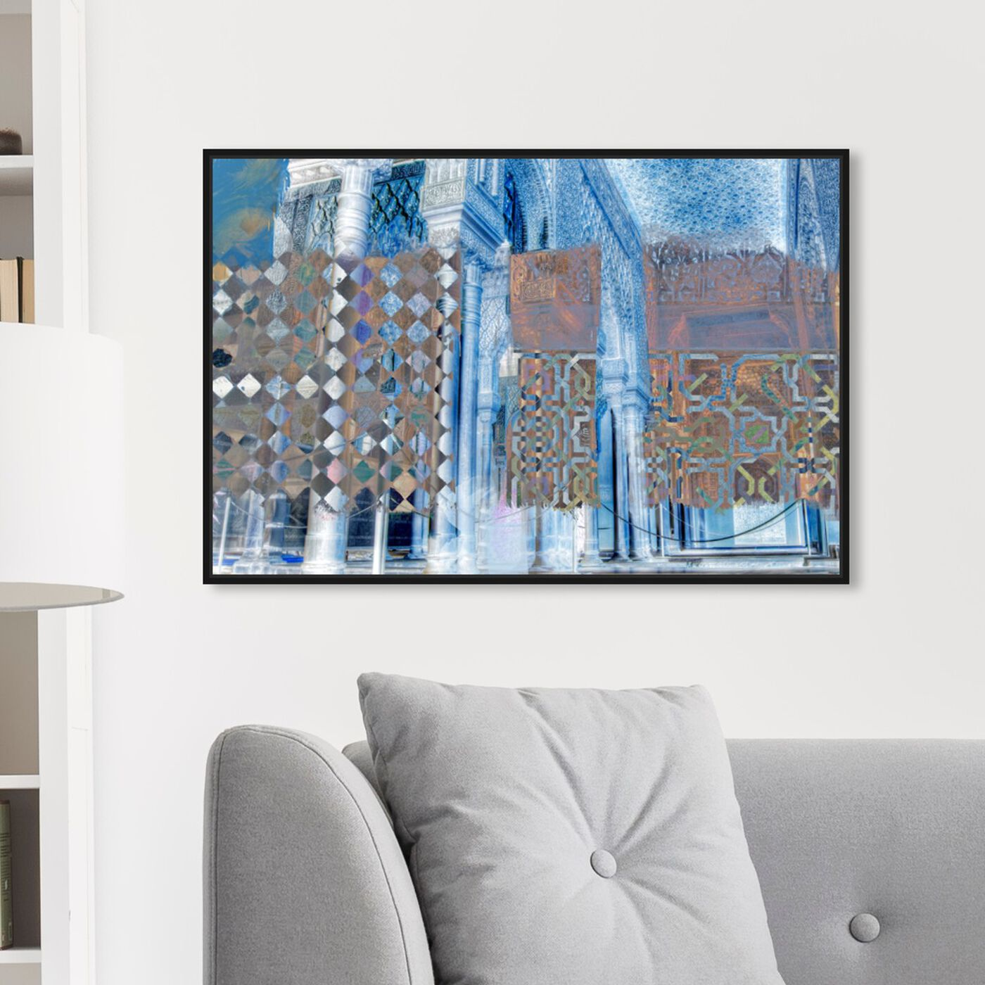 Hanging view of Alhambra featuring abstract and textures art.