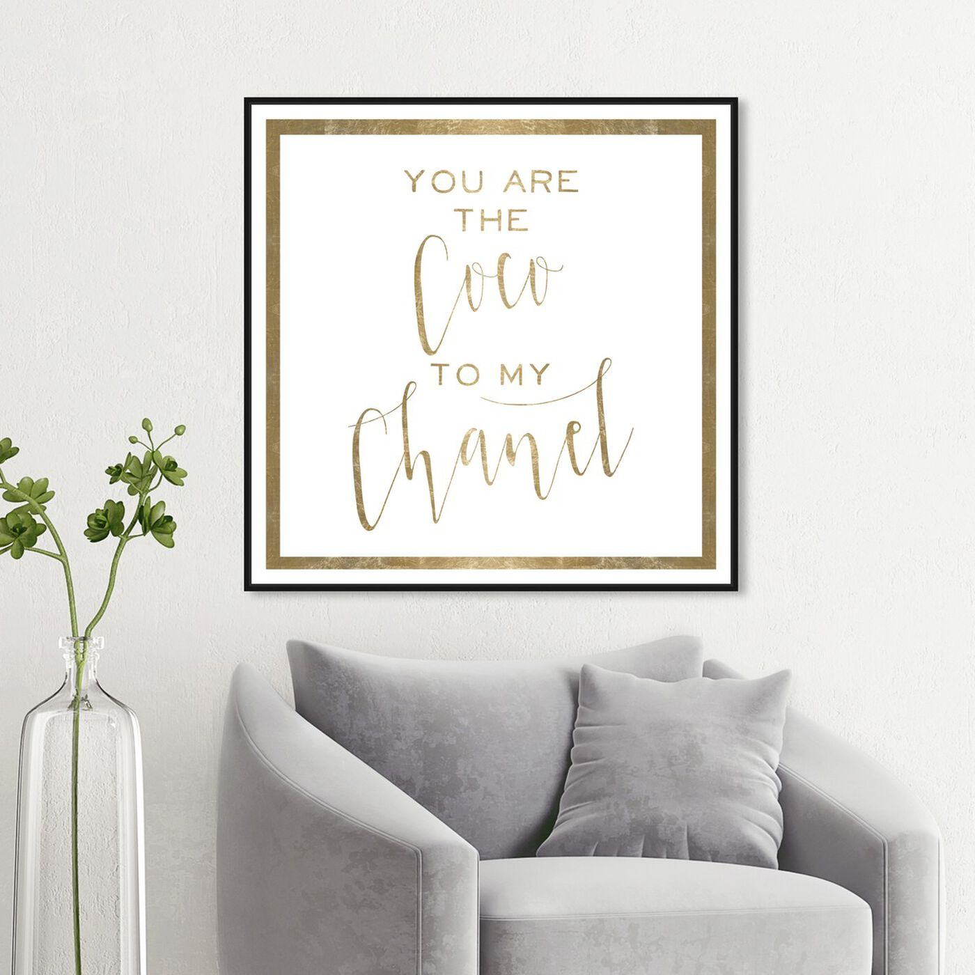 Hanging view of Fashion Best Friends Gold featuring typography and quotes and fashion quotes and sayings art.