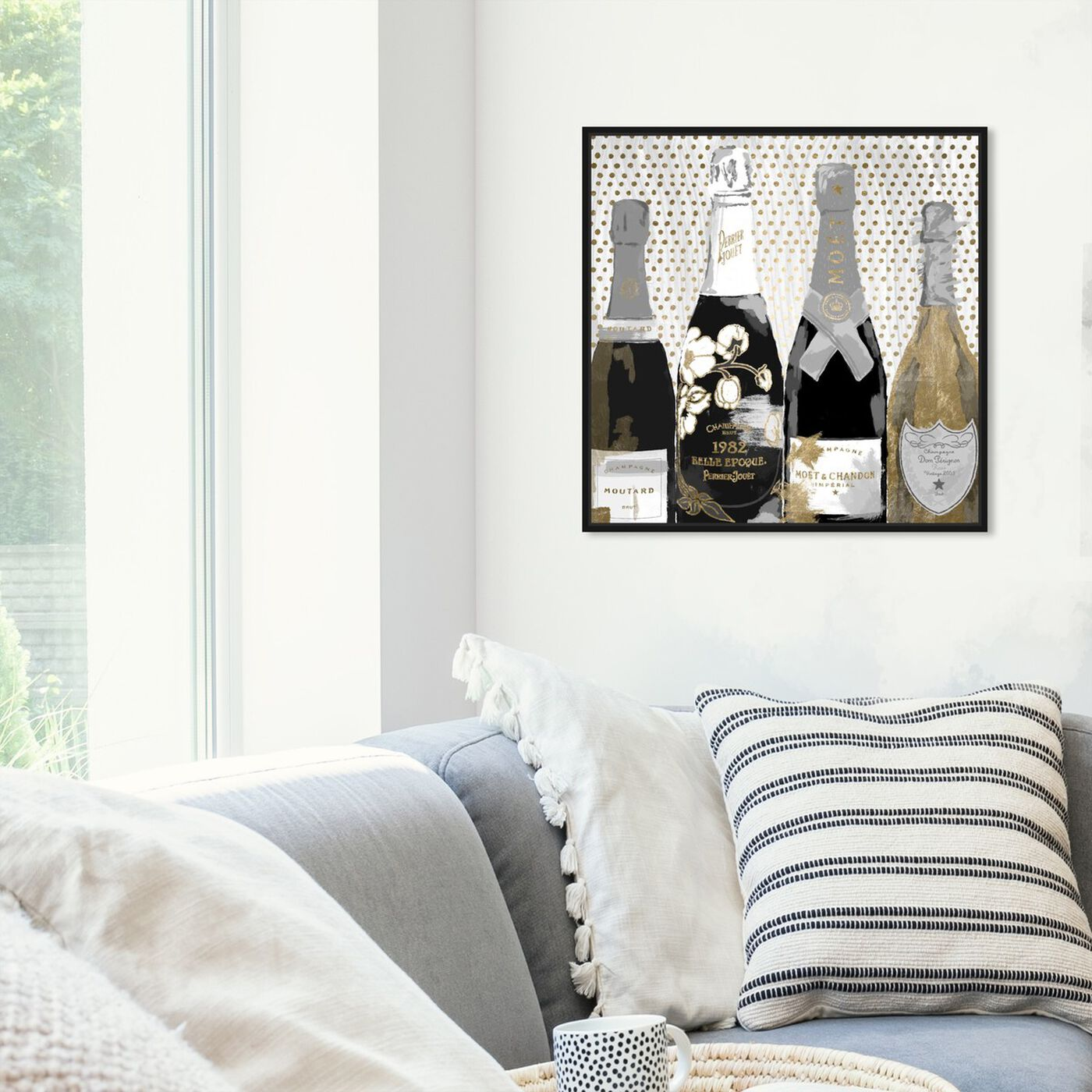 Hanging view of Pass the Bottle Night II featuring drinks and spirits and champagne art.
