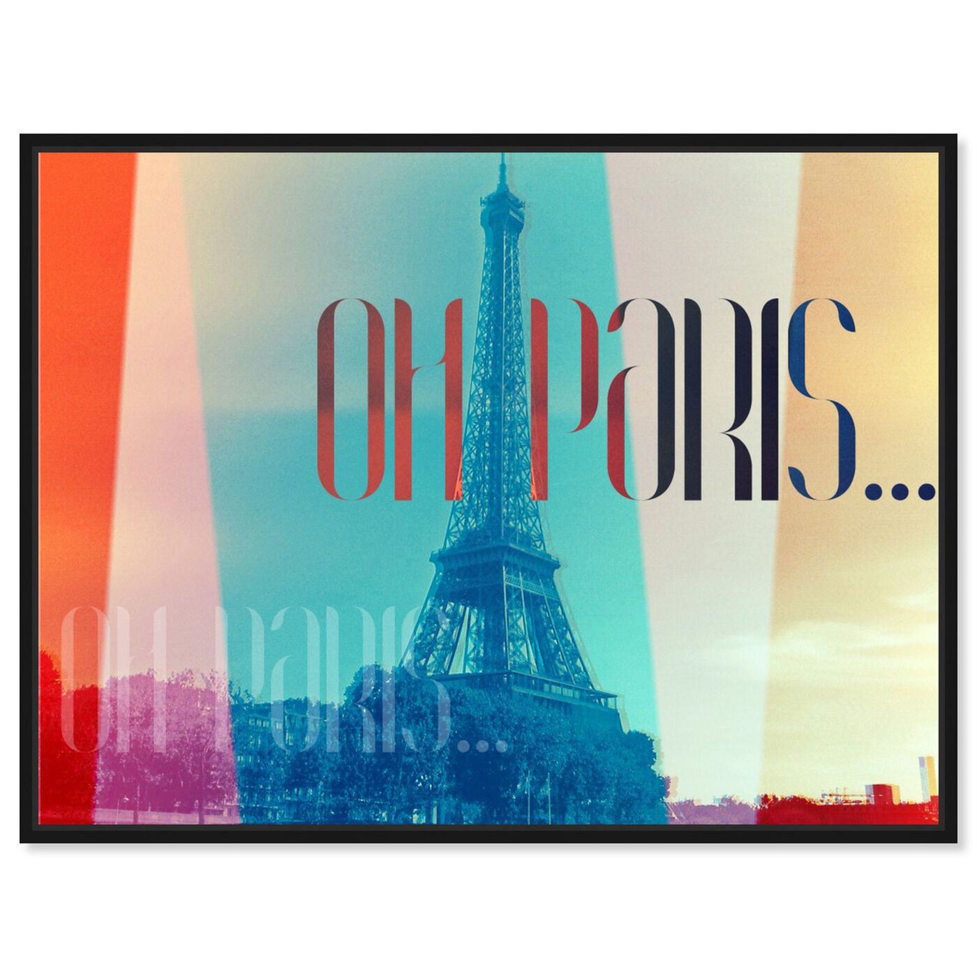 Front view of Oh Paris featuring world and countries and european countries art.
