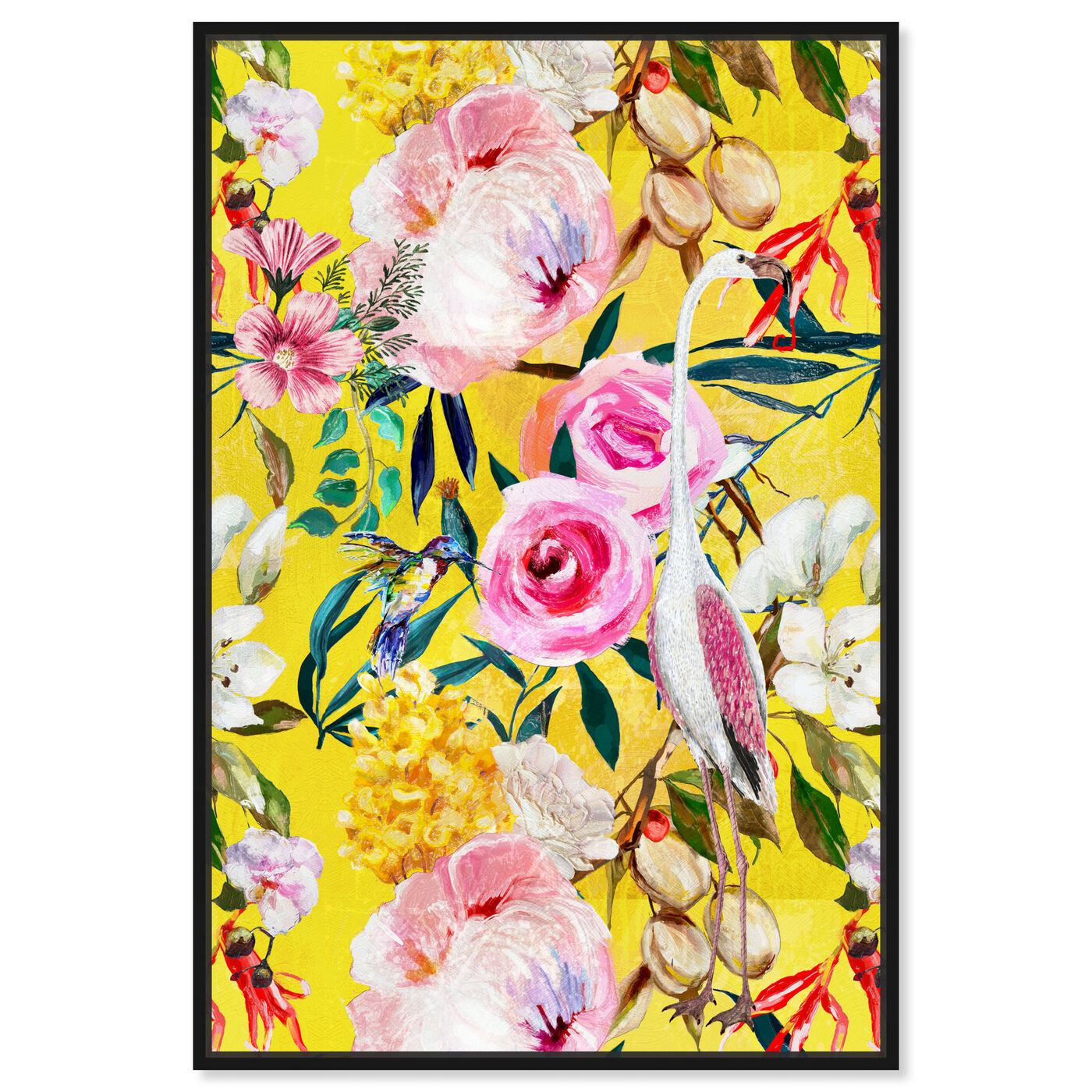 Front view of Le Tropic featuring floral and botanical and florals art.