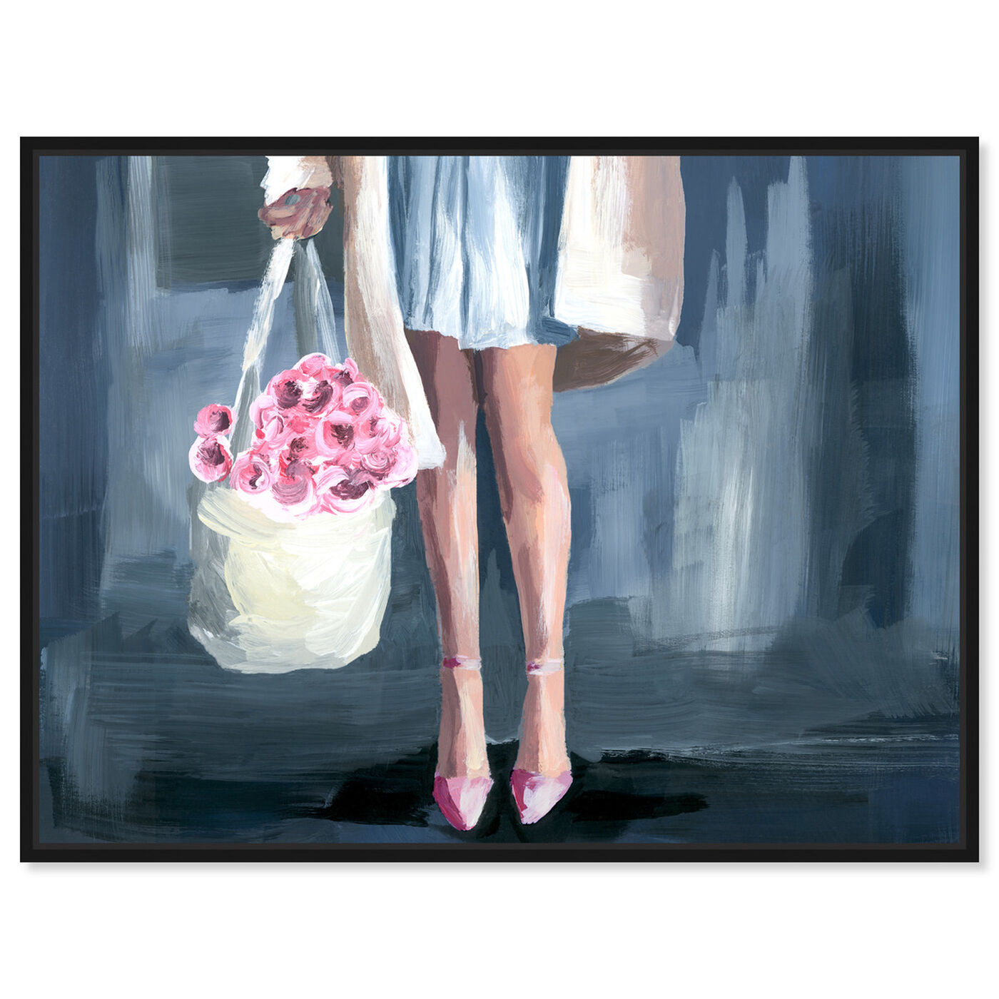 Front view of Shopping for Flowers featuring fashion and glam and outfits art.