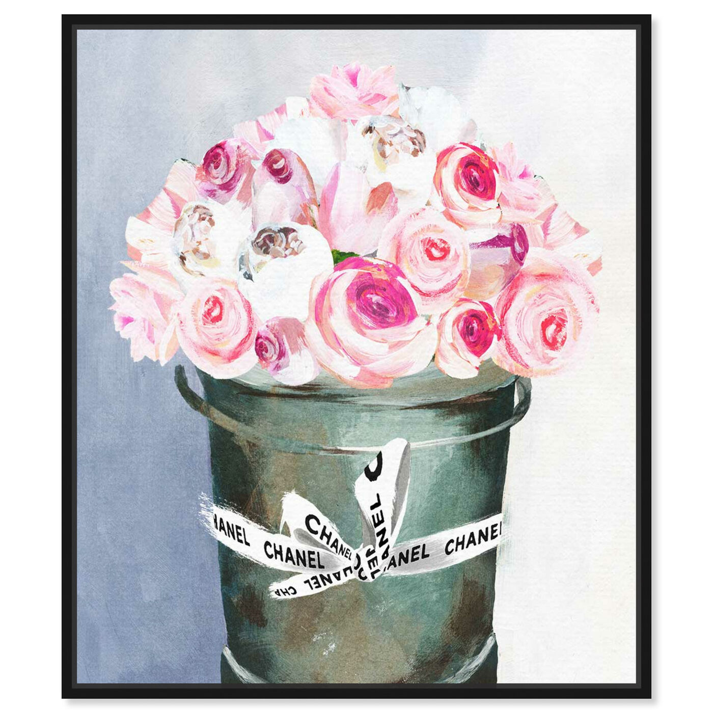 Front view of Bucket Full of Scent featuring floral and botanical and florals art.